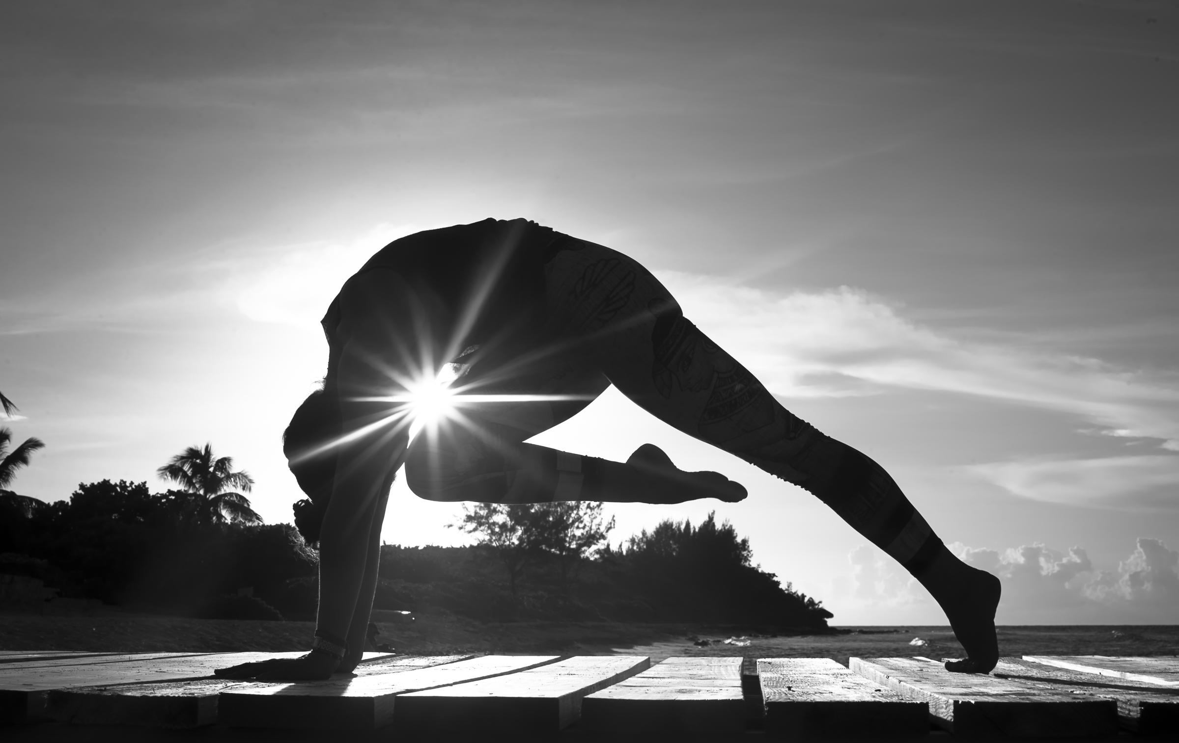 Beautiful yoga beach photography Cayman