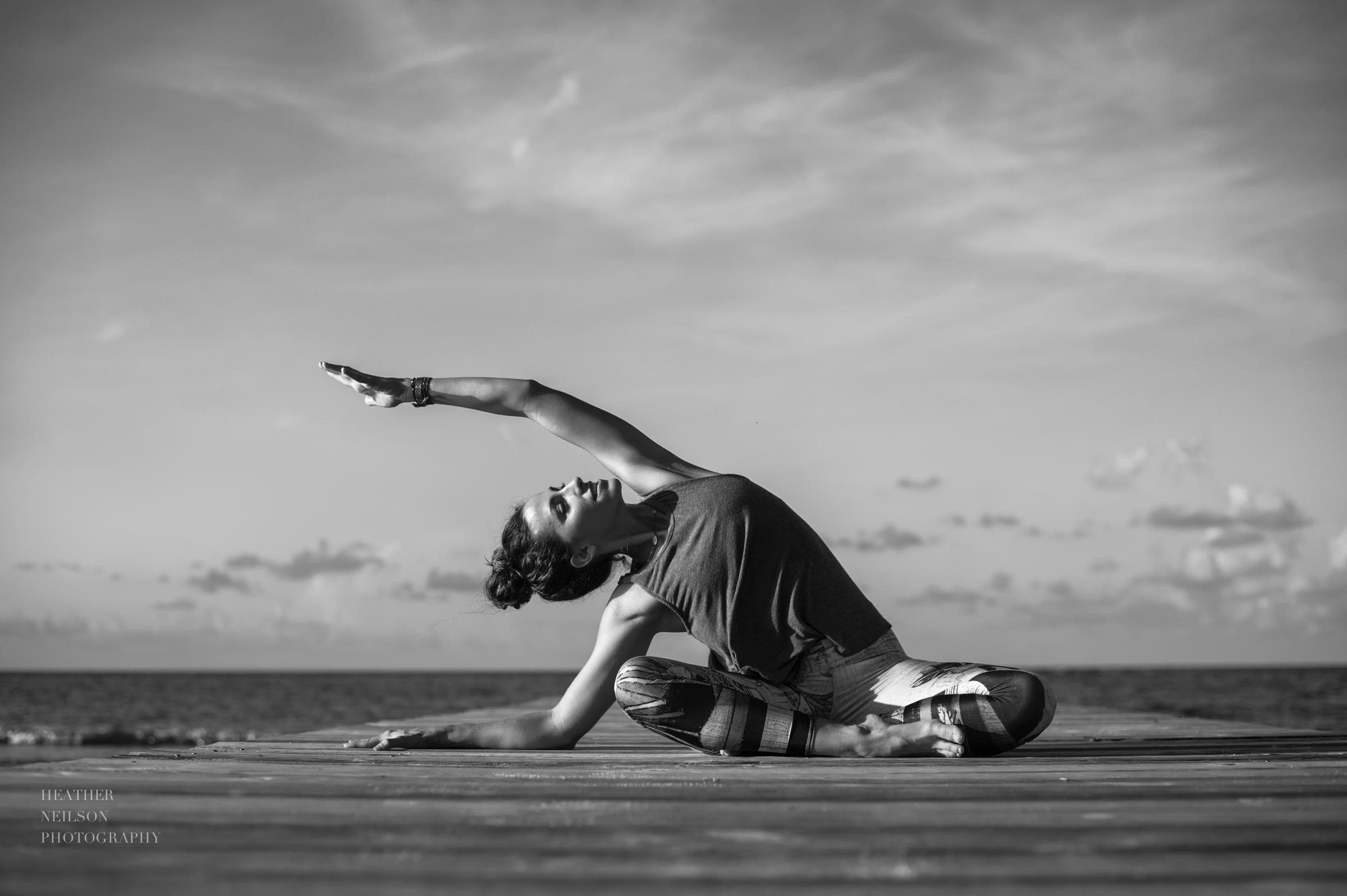Beautiful yoga and lifestyle photography