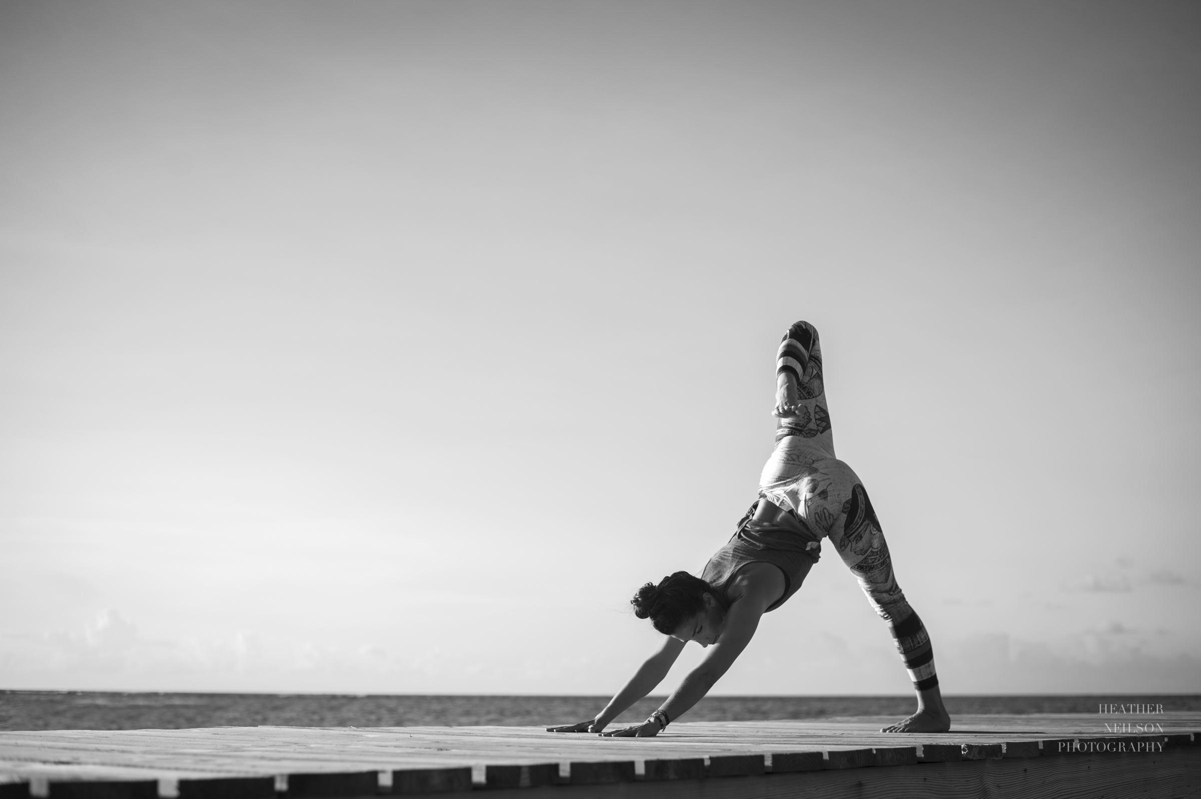 Gorgeous black and white yoga and lifestyle photography: Heather Neilson Photography