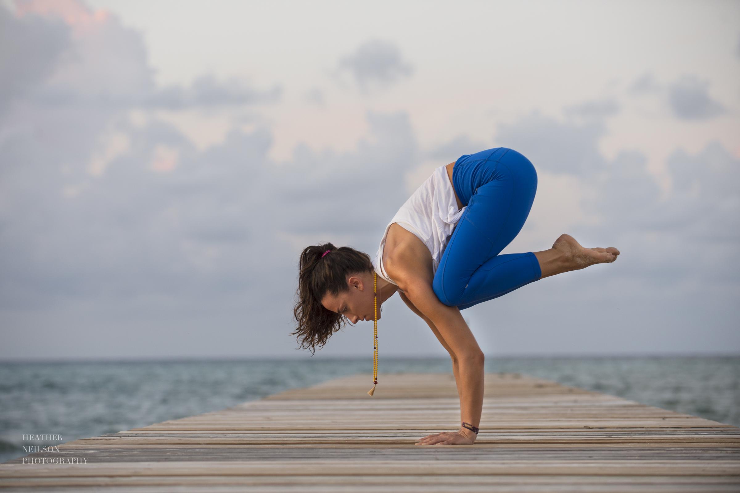 Inspiring yoga photography Cayman // crow pose