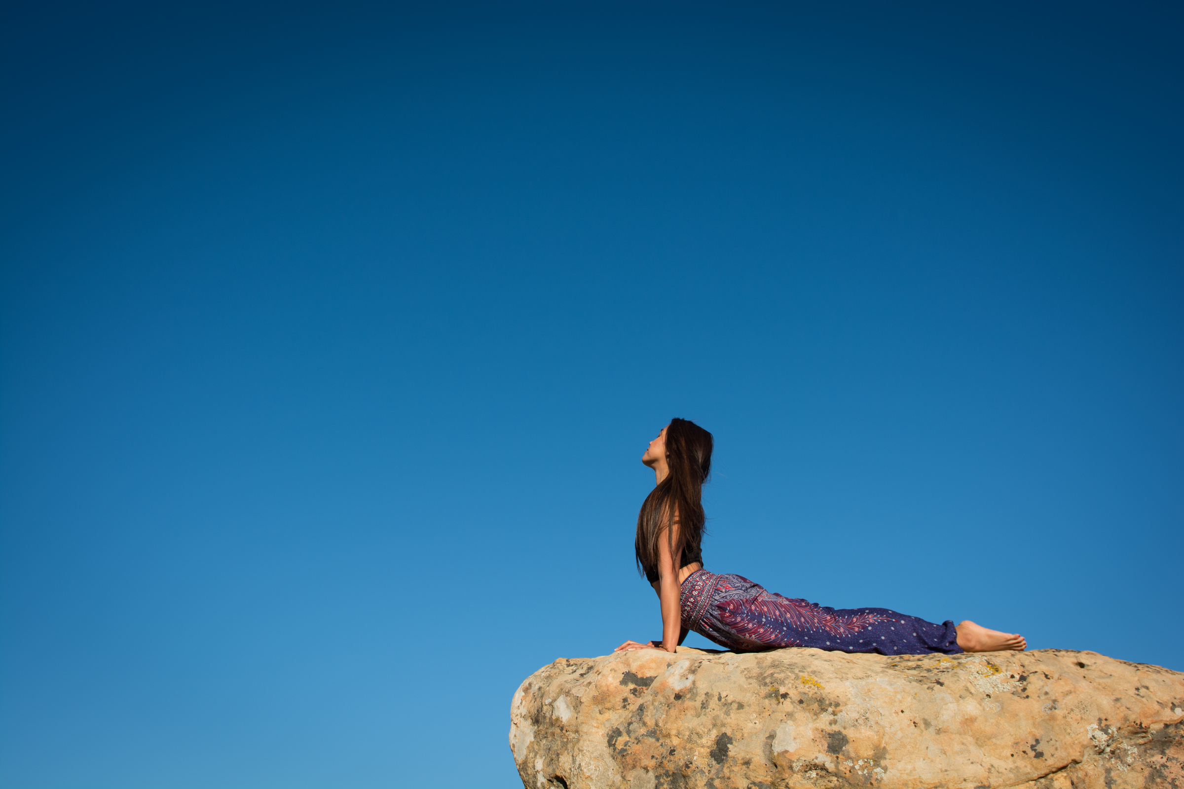 Beautiful sun salutations above Santa Barbara; Yoga and lifestyle photography Cayman and California