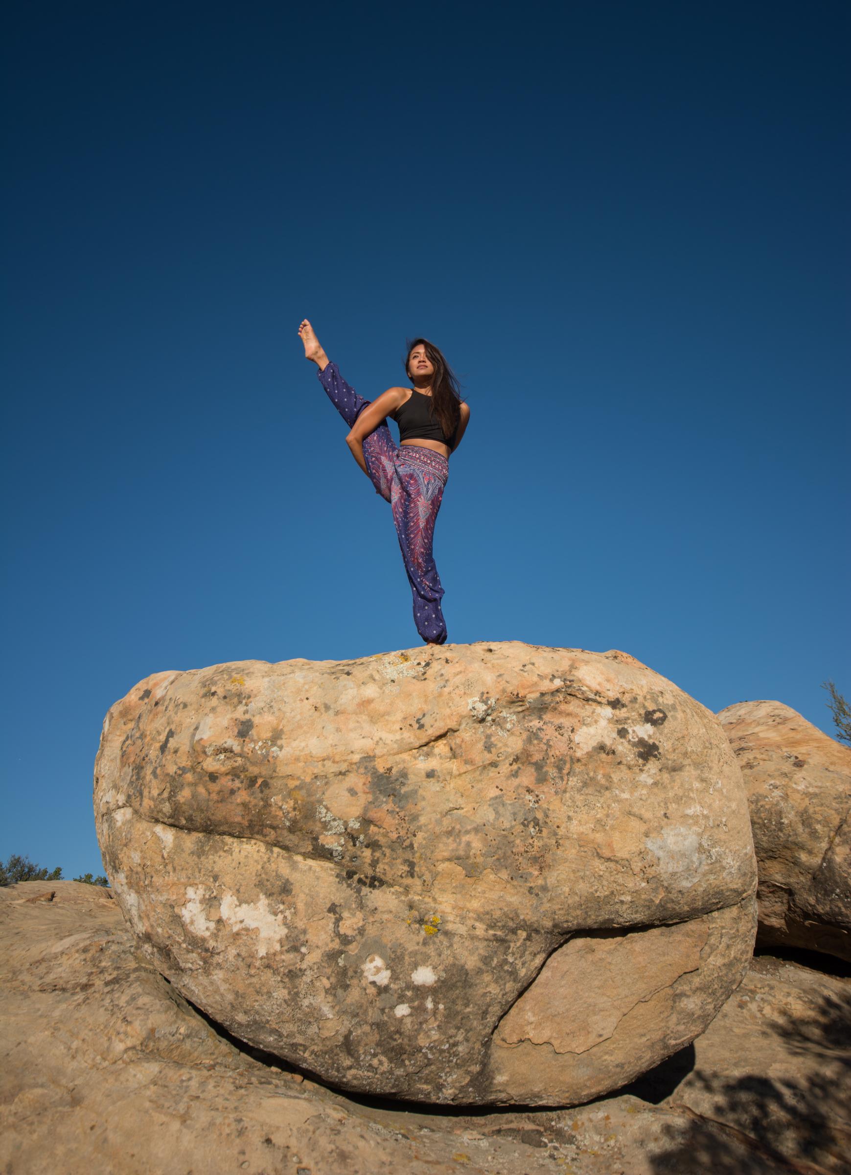 Beautiful yoga practice above Santa Barbara; Yoga photography Cayman and California