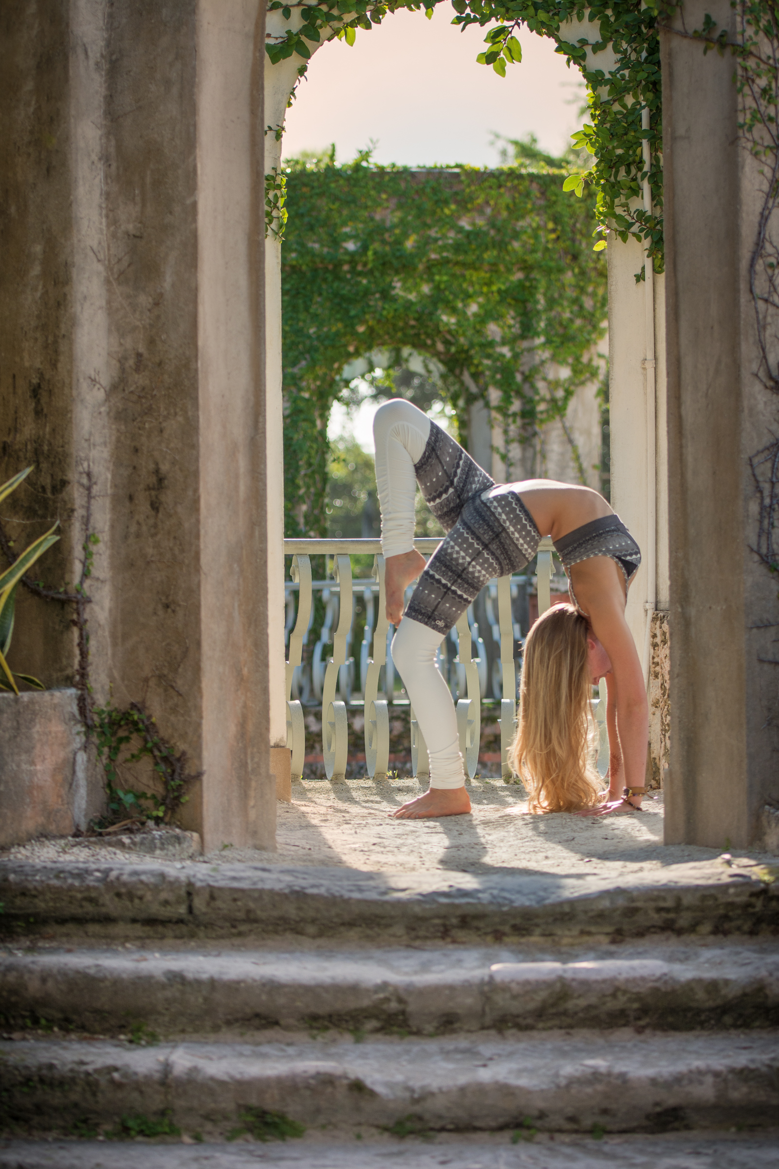 Yoga, lifestyle and portrait photographer Cayman - image shot in Vizcaya Miami
