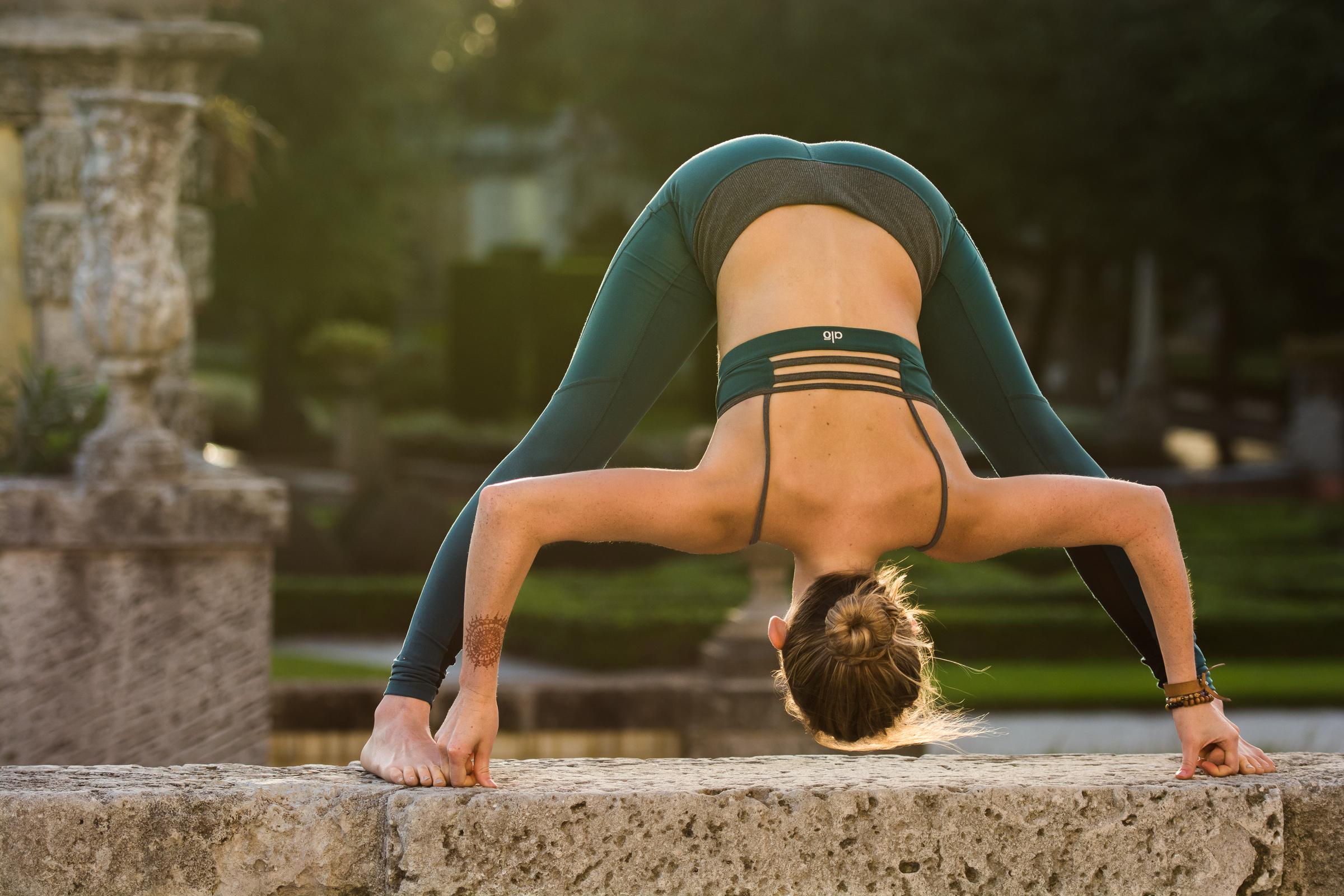 Yoga, lifestyle and portrait photographer Cayman - image shot at Vizcaya Miami