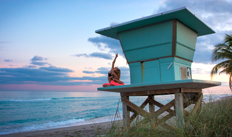 Yoga photography Miami and California | sunset shoot