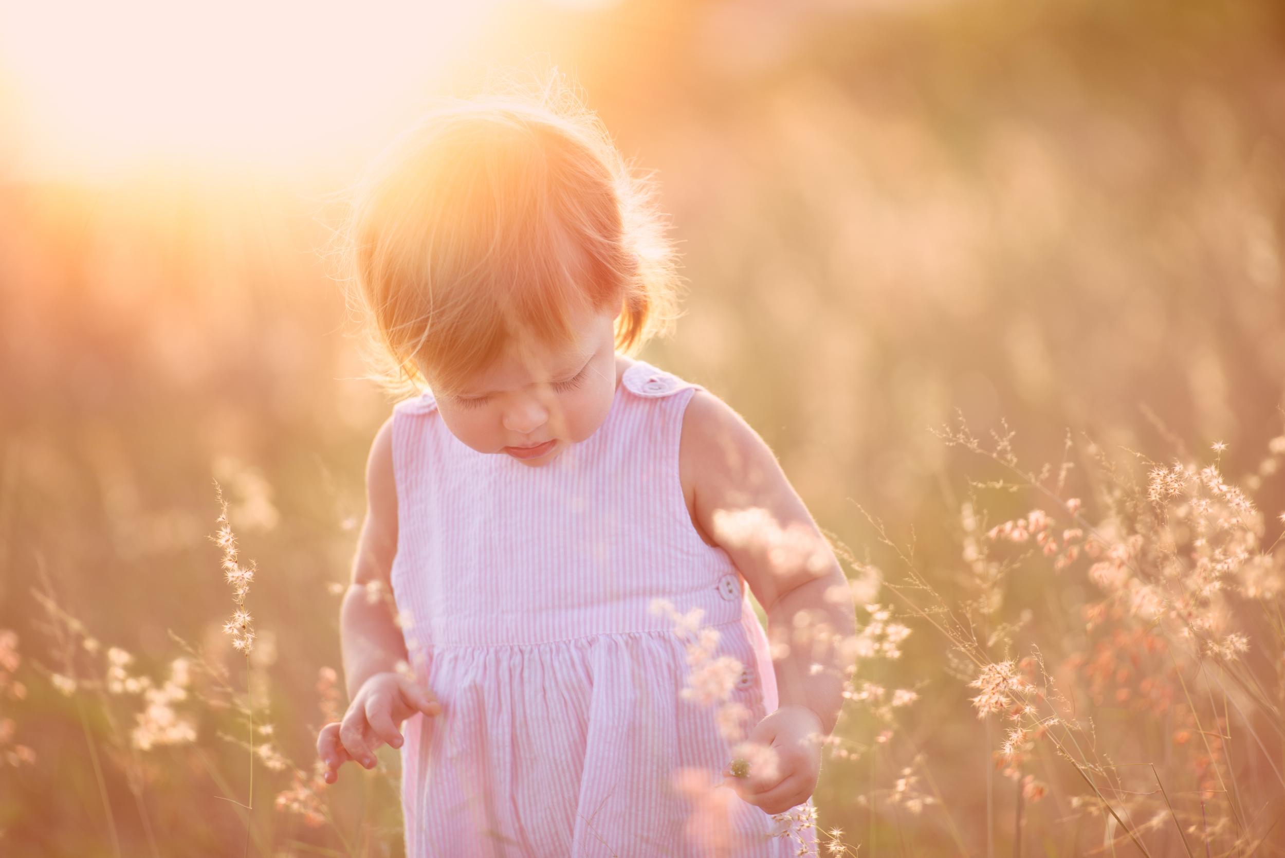 London child photography | dreamy sunset shoot
