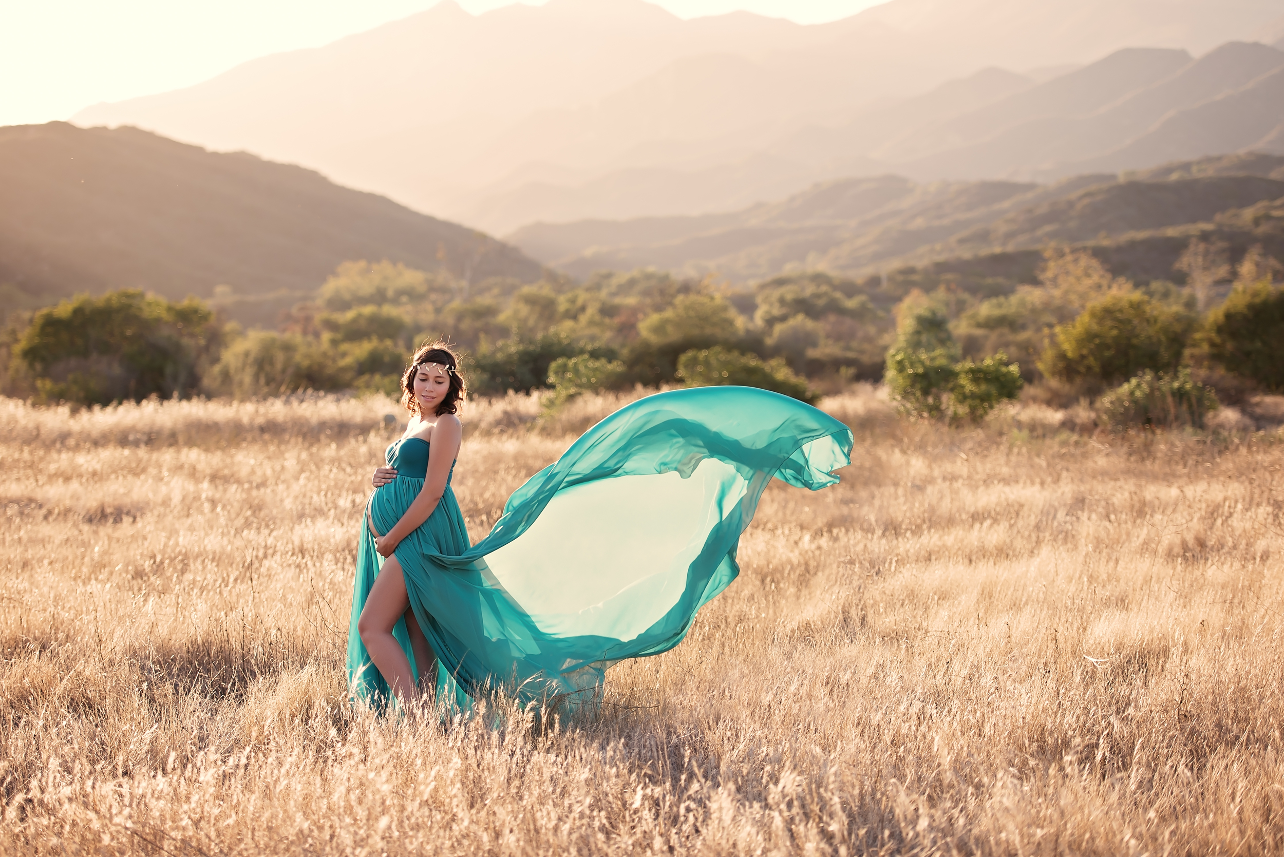 London maternity photographer | Sew Trendy gown