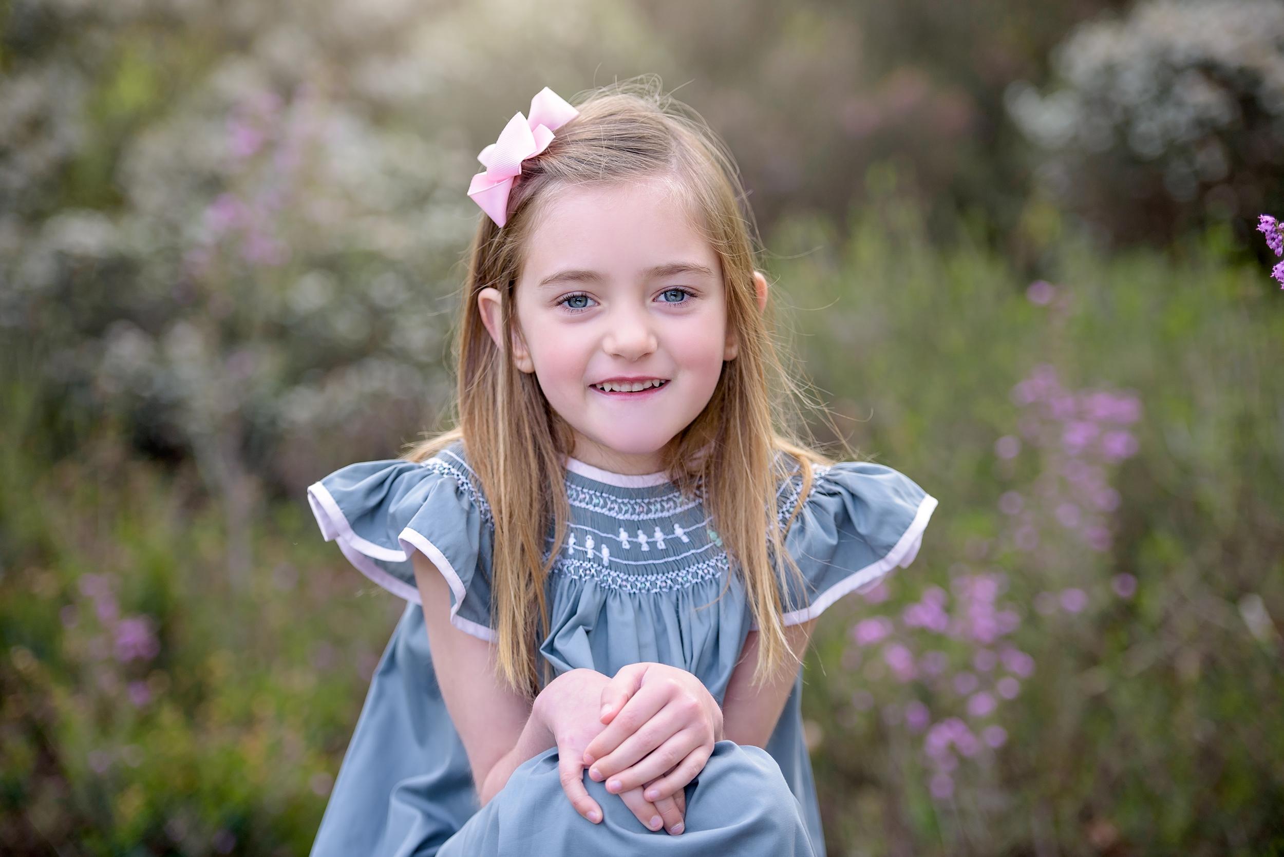 Children's portrait photographer, London