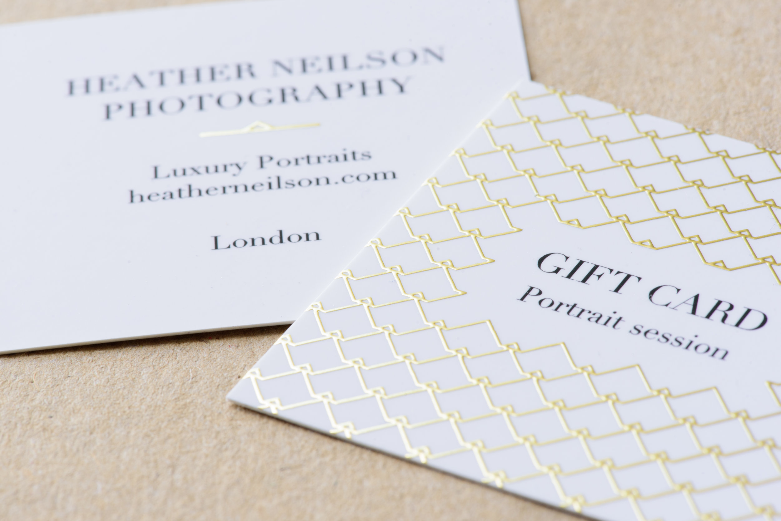 London portrait photography gift cards