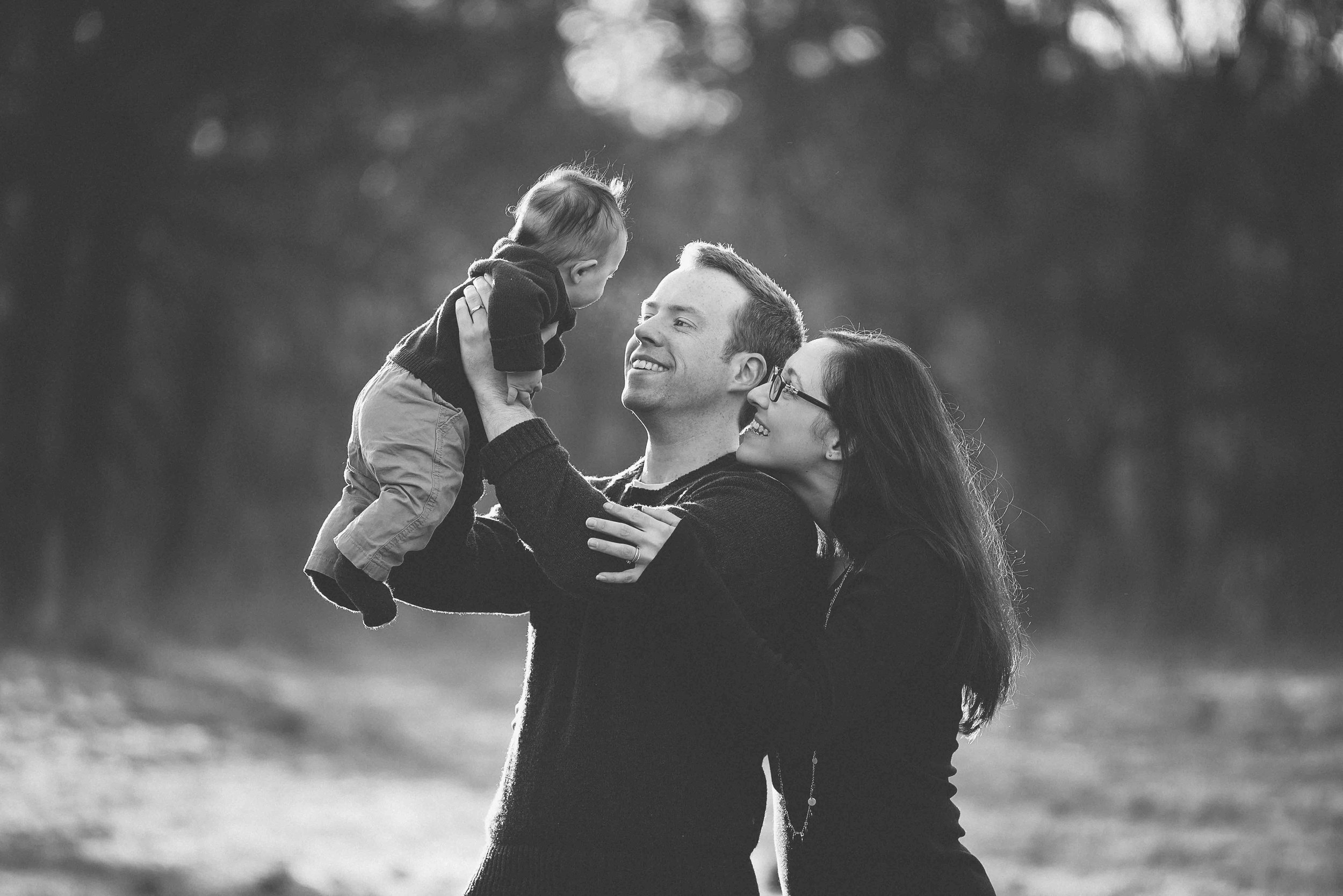 North London black and white family photography