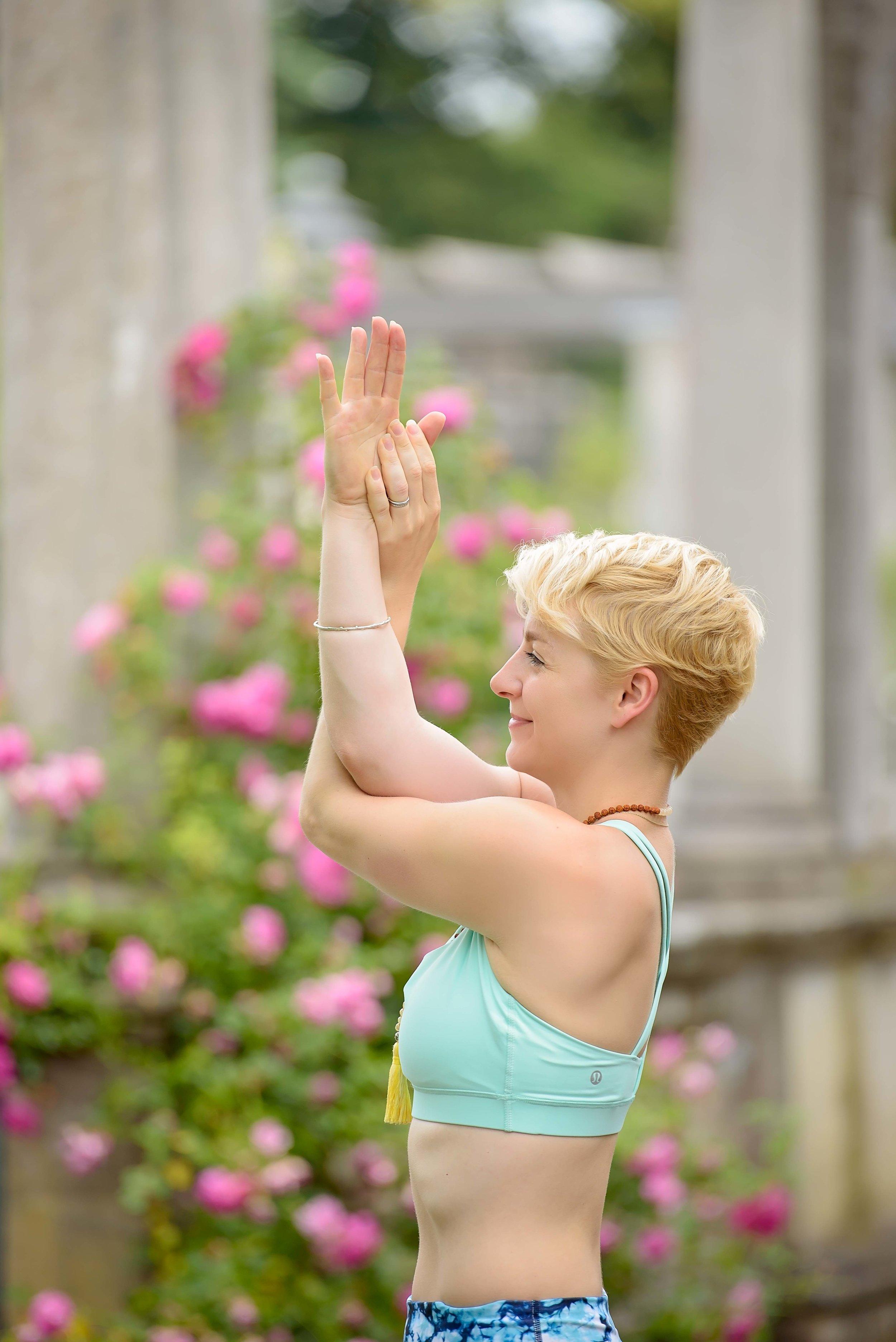 Outdoor yoga photography