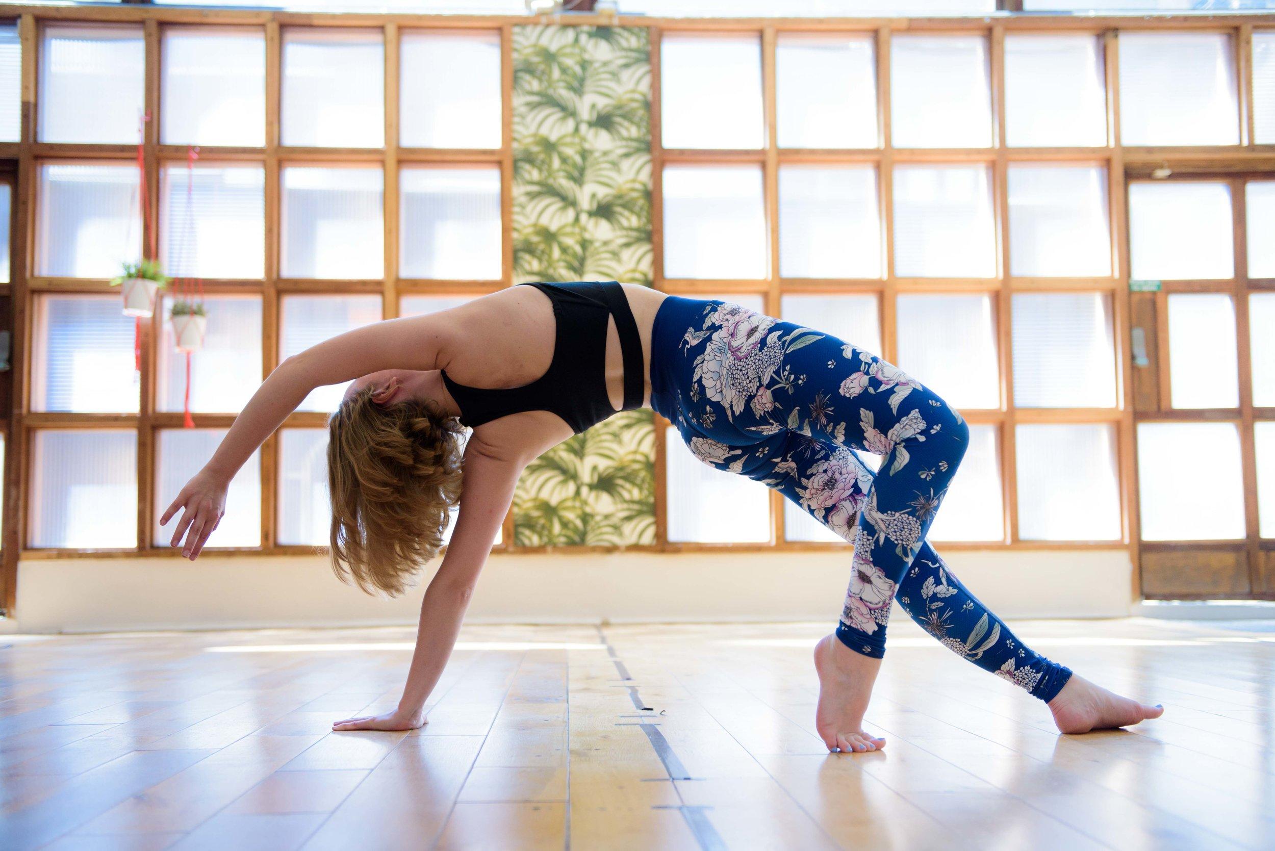 Professional yoga photo shoot