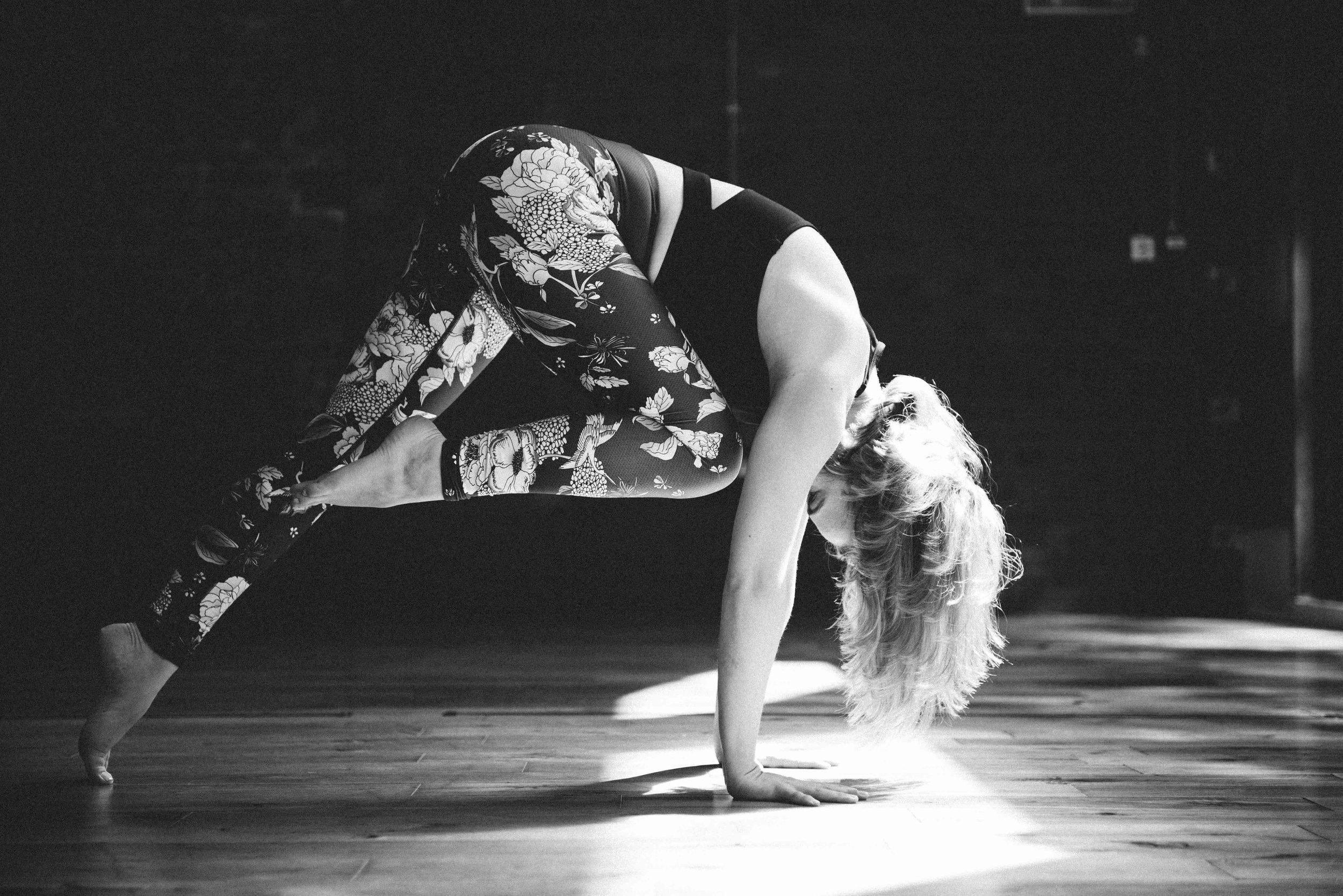 artistic yoga photography