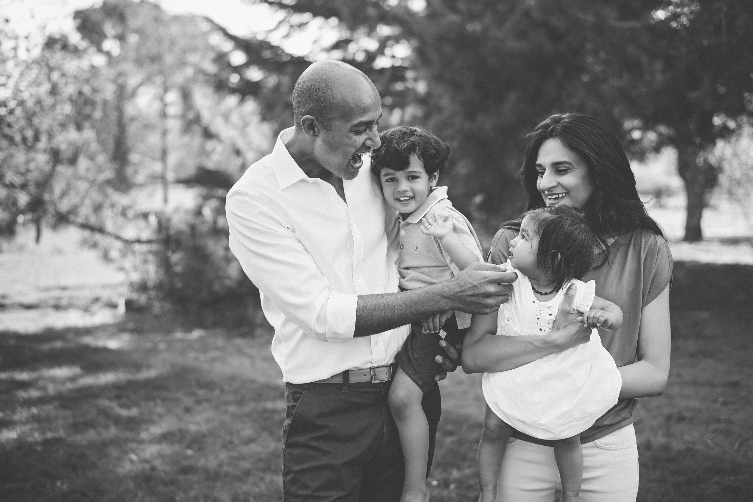 Stylish family photography London