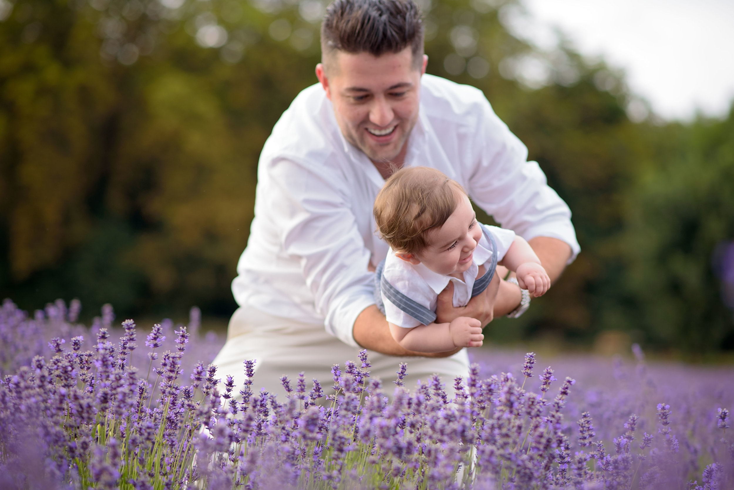 Lavender fields family photography
