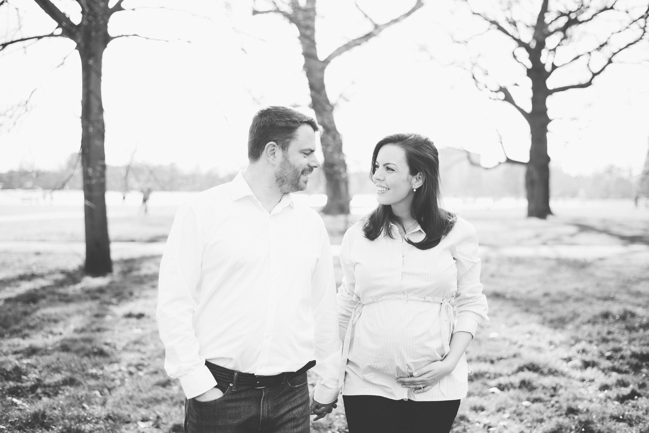 Maternity photoshoot with partner London