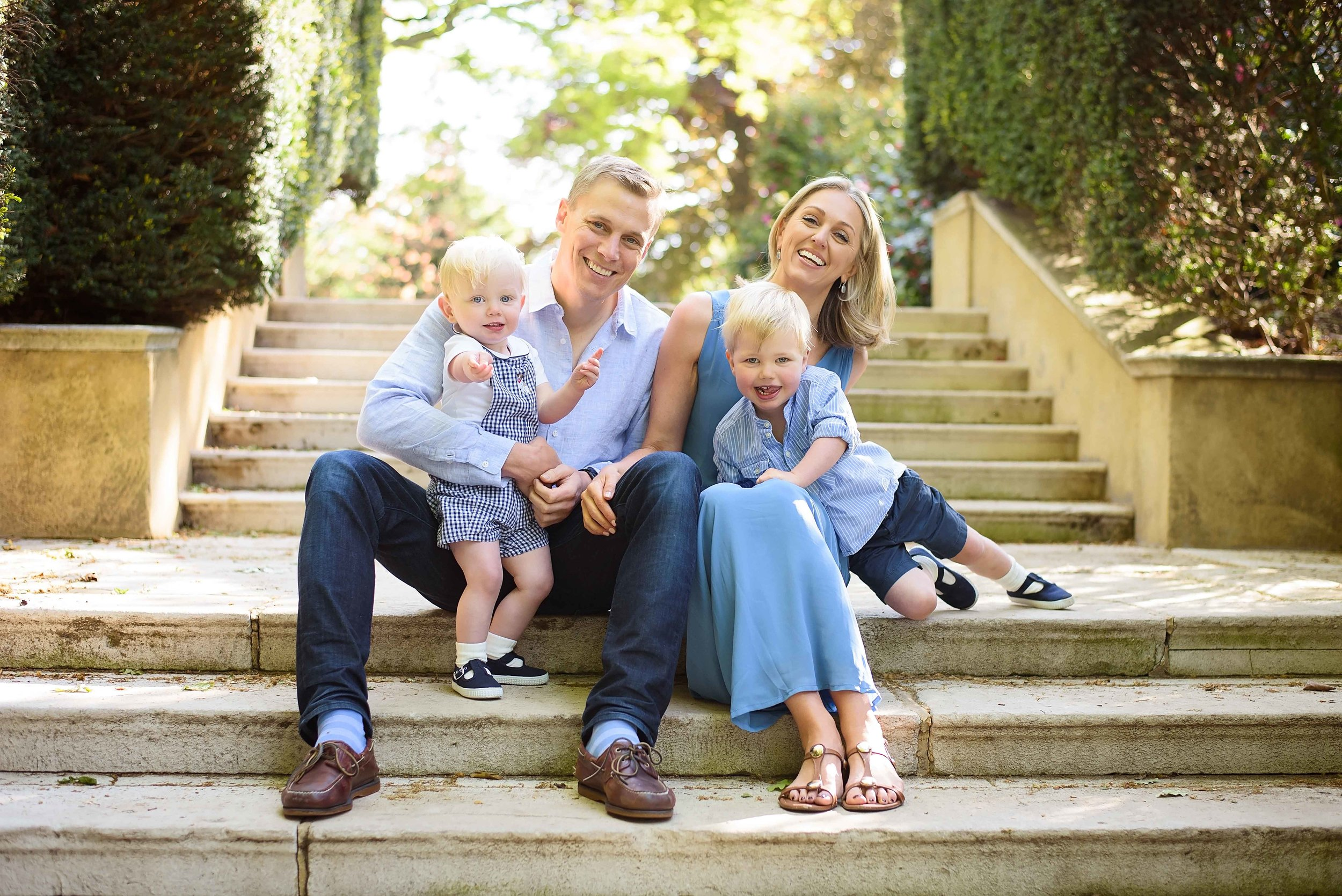 Family portraits in Holland Park, Kensington