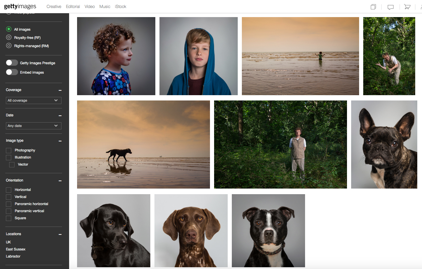 My first batch of stock pictures for  Getty Images . A mixed bag to say the least!