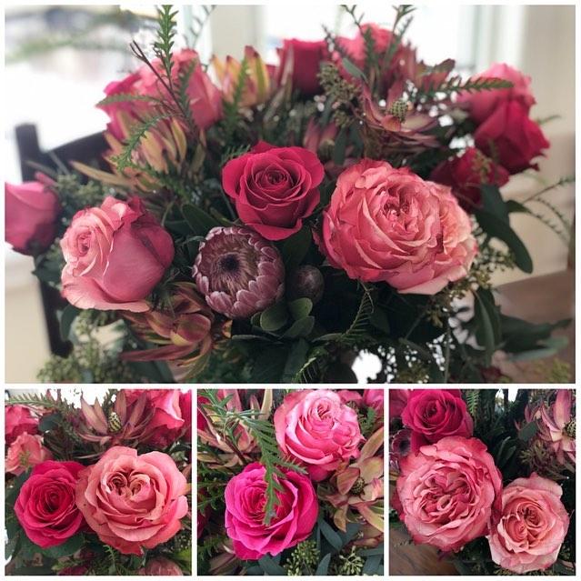 Happy Valentines Day!!! @harvesthomewayzata #shoplocal #gardenroses #valentines #harvesthomewayzata #shopsmall #lakeminnetonka #wayzata #floralarrangement #msp #twincities #roses