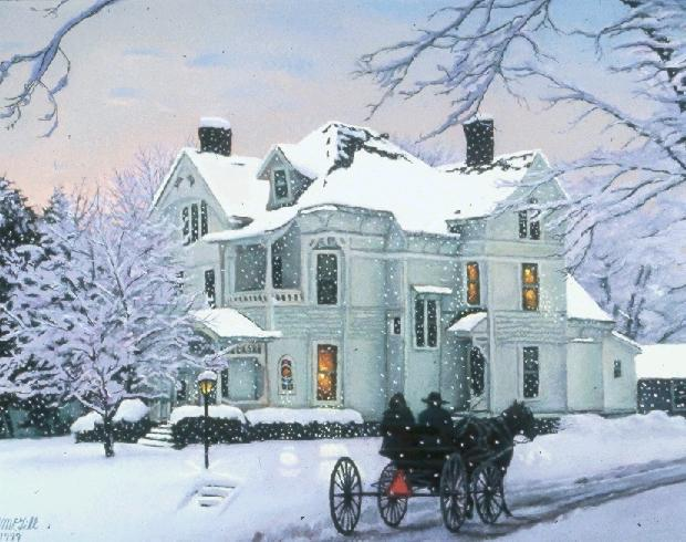 """National Historic Landmark  (Thompson House) -  950 signed & numbered limited edition prints.  Size 17 1/4"""" x 23""""  Price:  $100"""