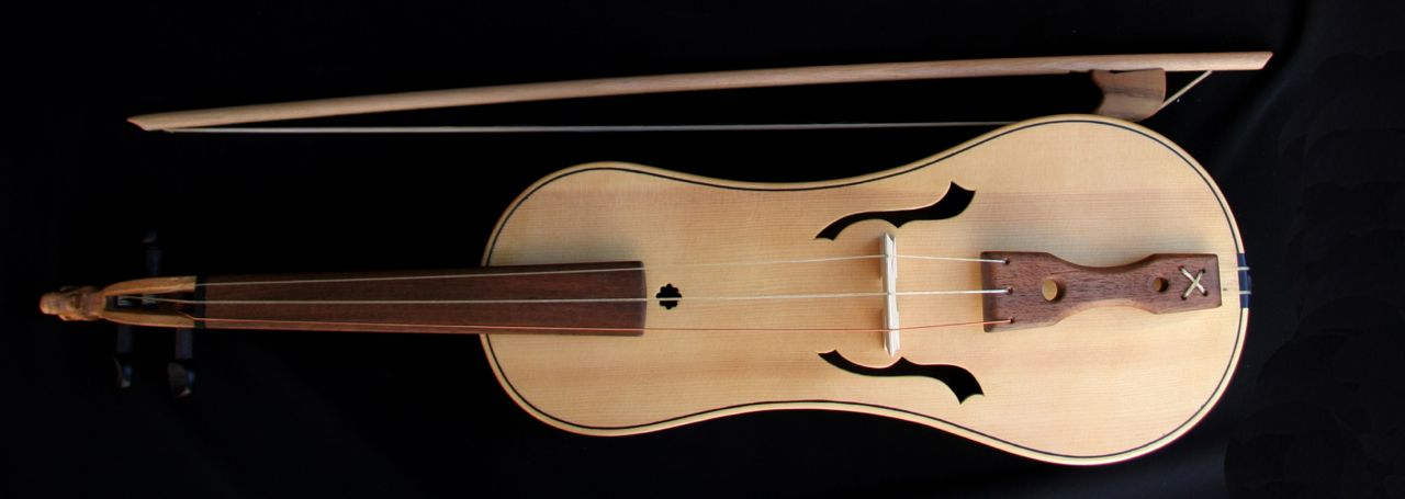 SPANISH REBEC -First recordings & Toledo. Personally built by Asier de Benito. Bow included