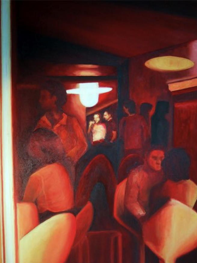 "Madrid, 2001, oil on canvas, ""31x24"" (80x60cm)"