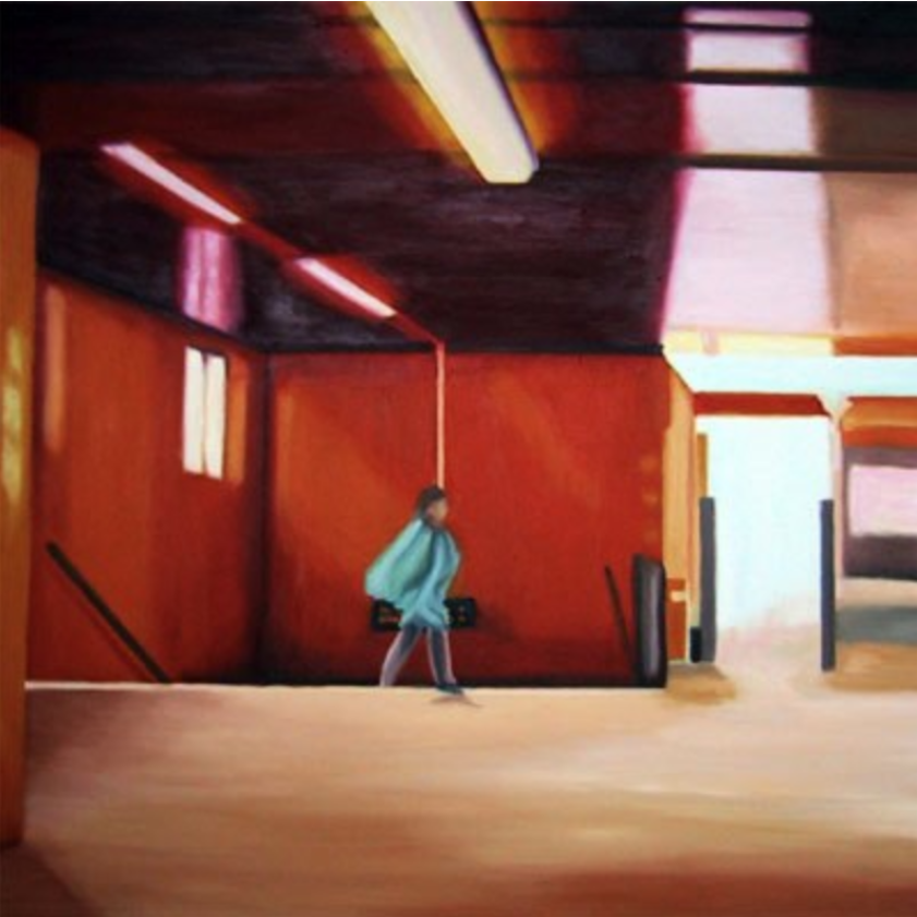 "Hallesches Tor, 2002, oil on canvas, 27""x27"" (70x70cm)"