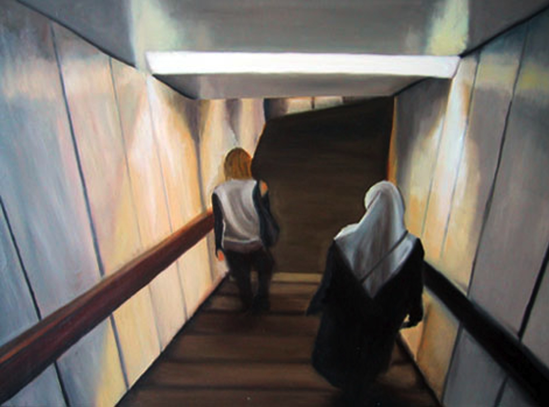 "Going Down, 2003, oil on canvas, 24""x31"" (60x80cm)"