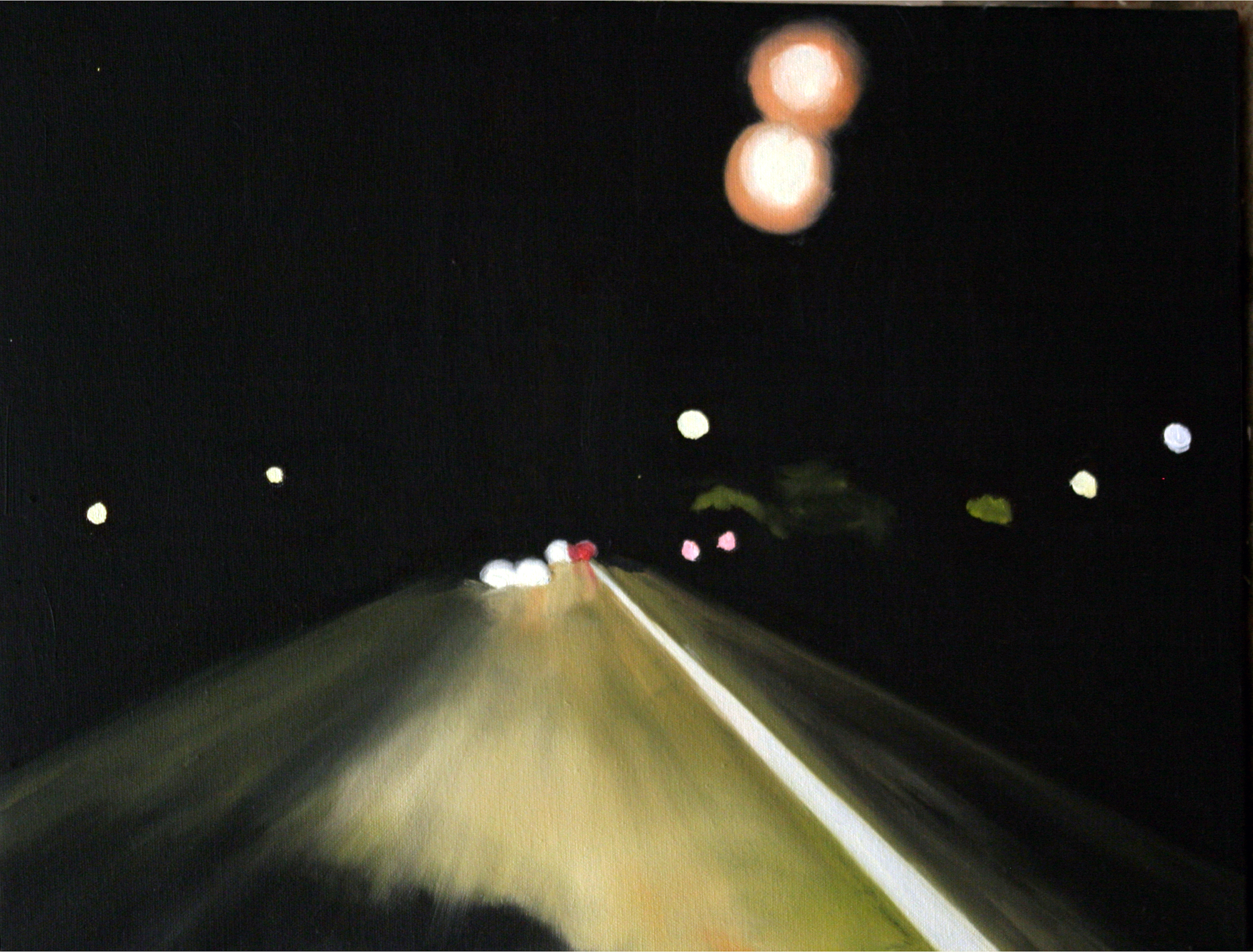 "Highway, 2005, oil on canvas, 11""x14"" (≈28x36cm)"