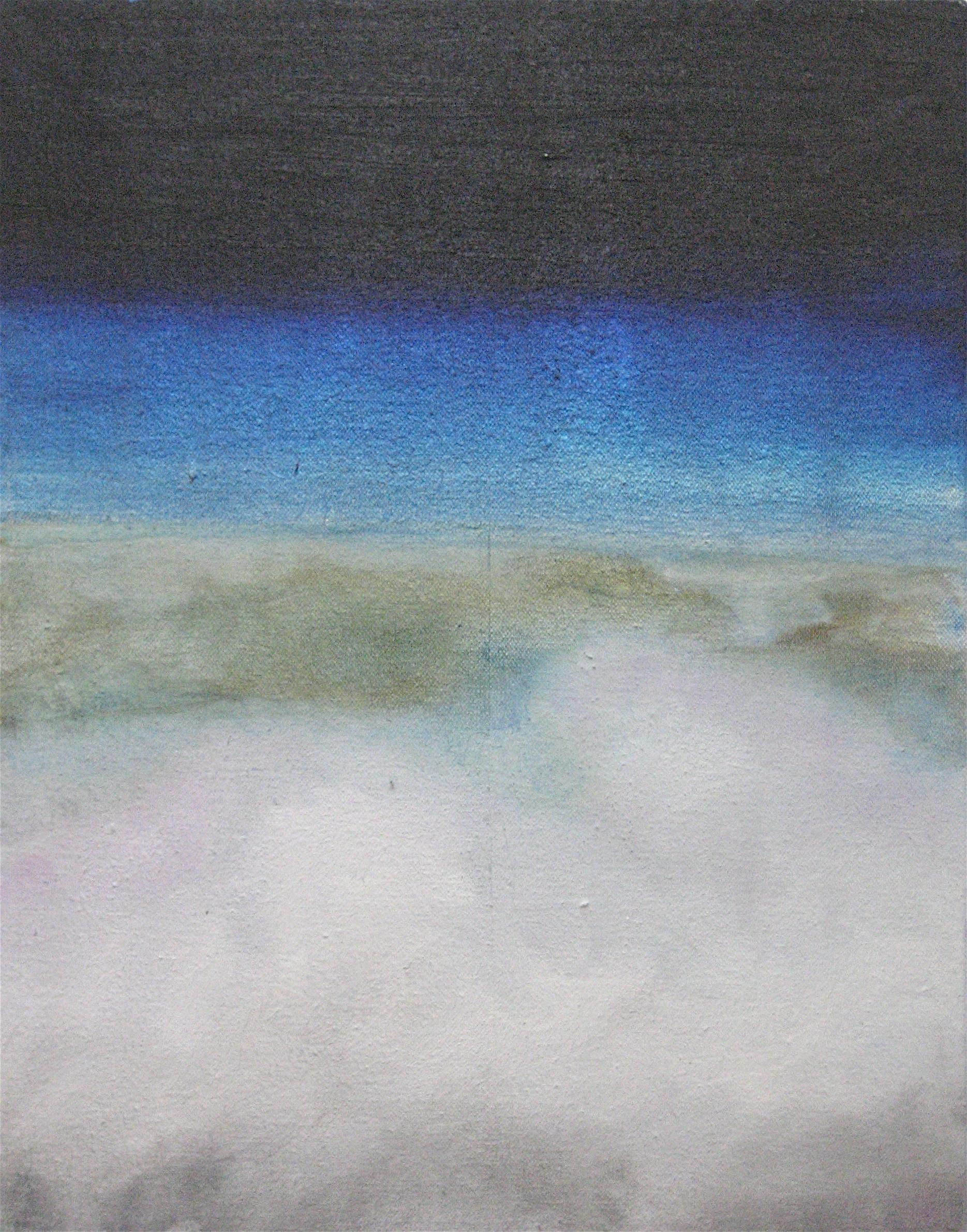 "(Cloud Study No. 5), 2006, oil + alum-silver on canvas, 14""x11"" (≈36x28cm)"