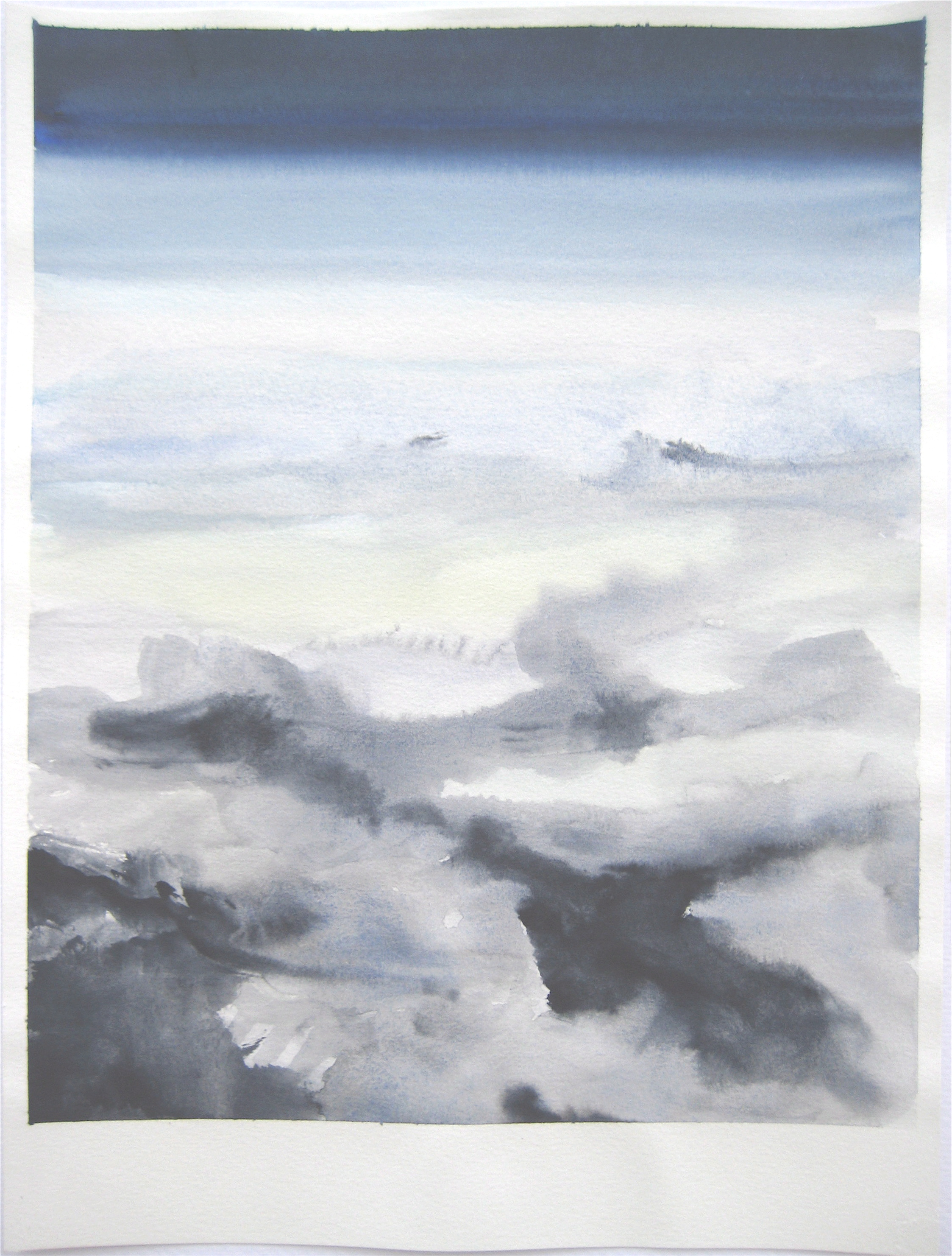 """Sky #4.3/2007, 2007, watercolor on paper paper: 12 6/8""""x9 1/2""""; image: 11 1/2""""x 9"""""""