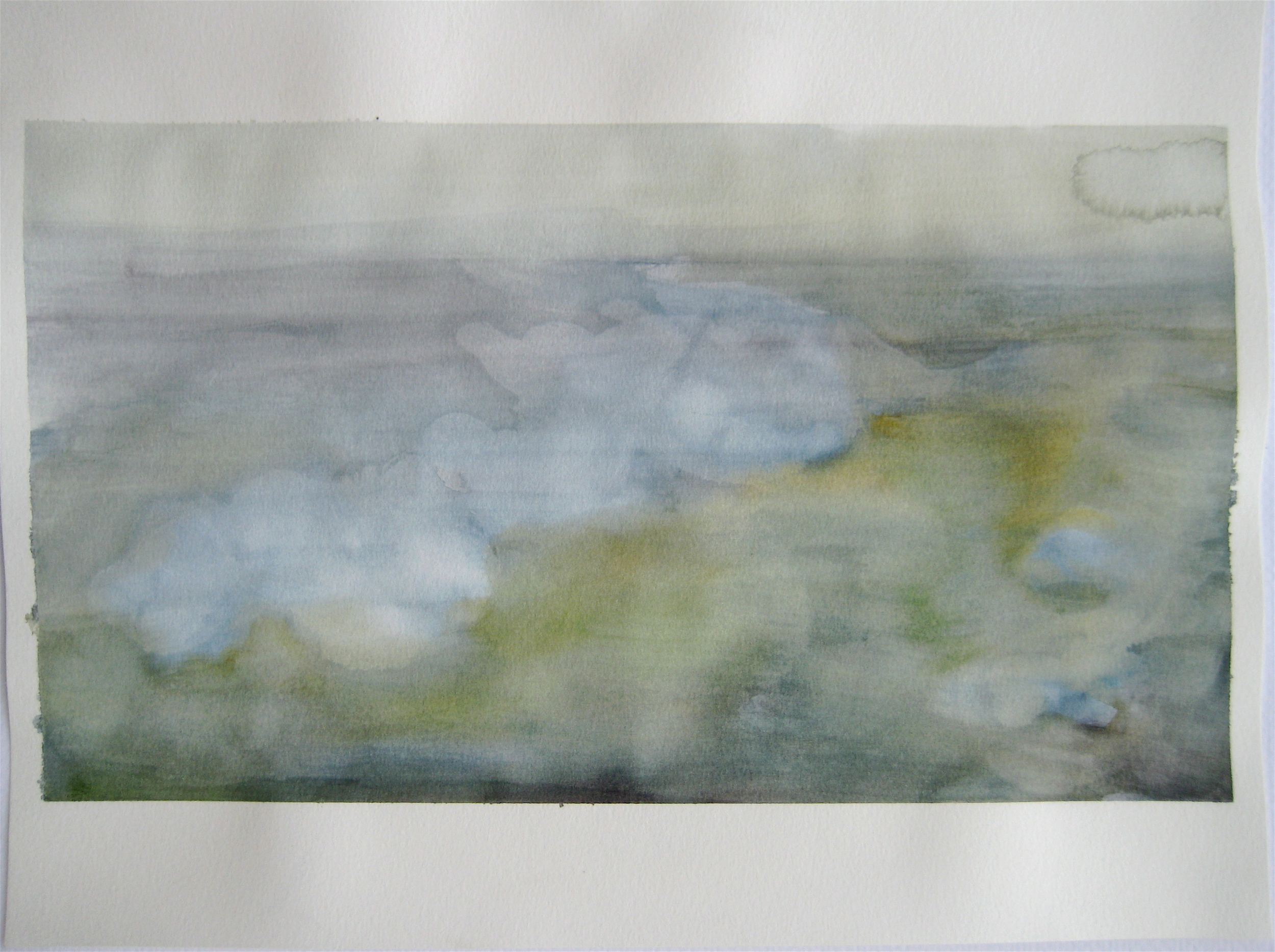 """Sky #6.3/2007, 2007, watercolor on paper paper: 9 1/2""""x12 6/8""""; image: 6 7/8""""x12 1/8"""""""