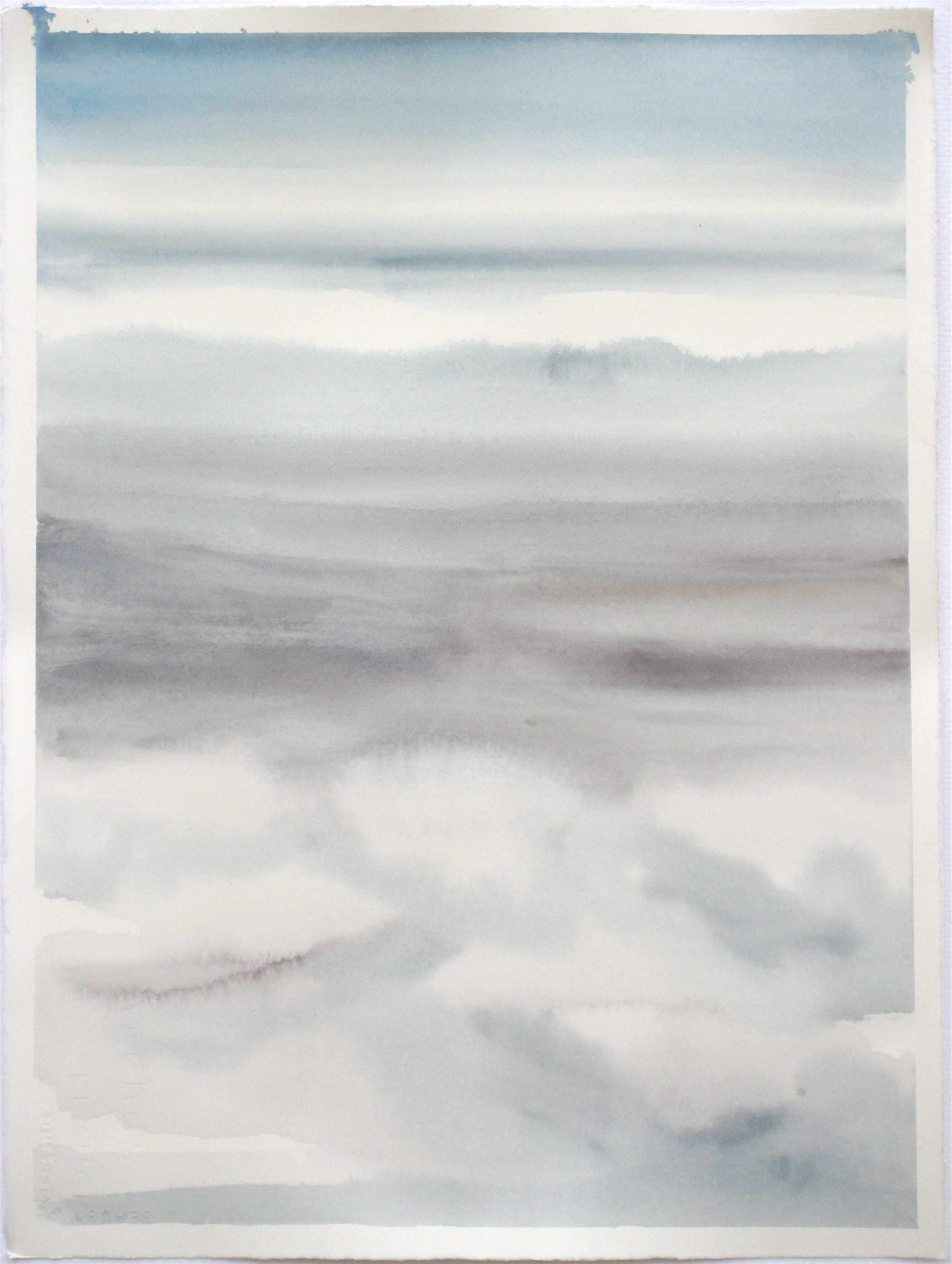 """Sky #2.4/2007, 2007 watercolor on paper paper: 15 1/4""""x11 1/4""""; image: 14 1/2""""x10 1/4"""""""