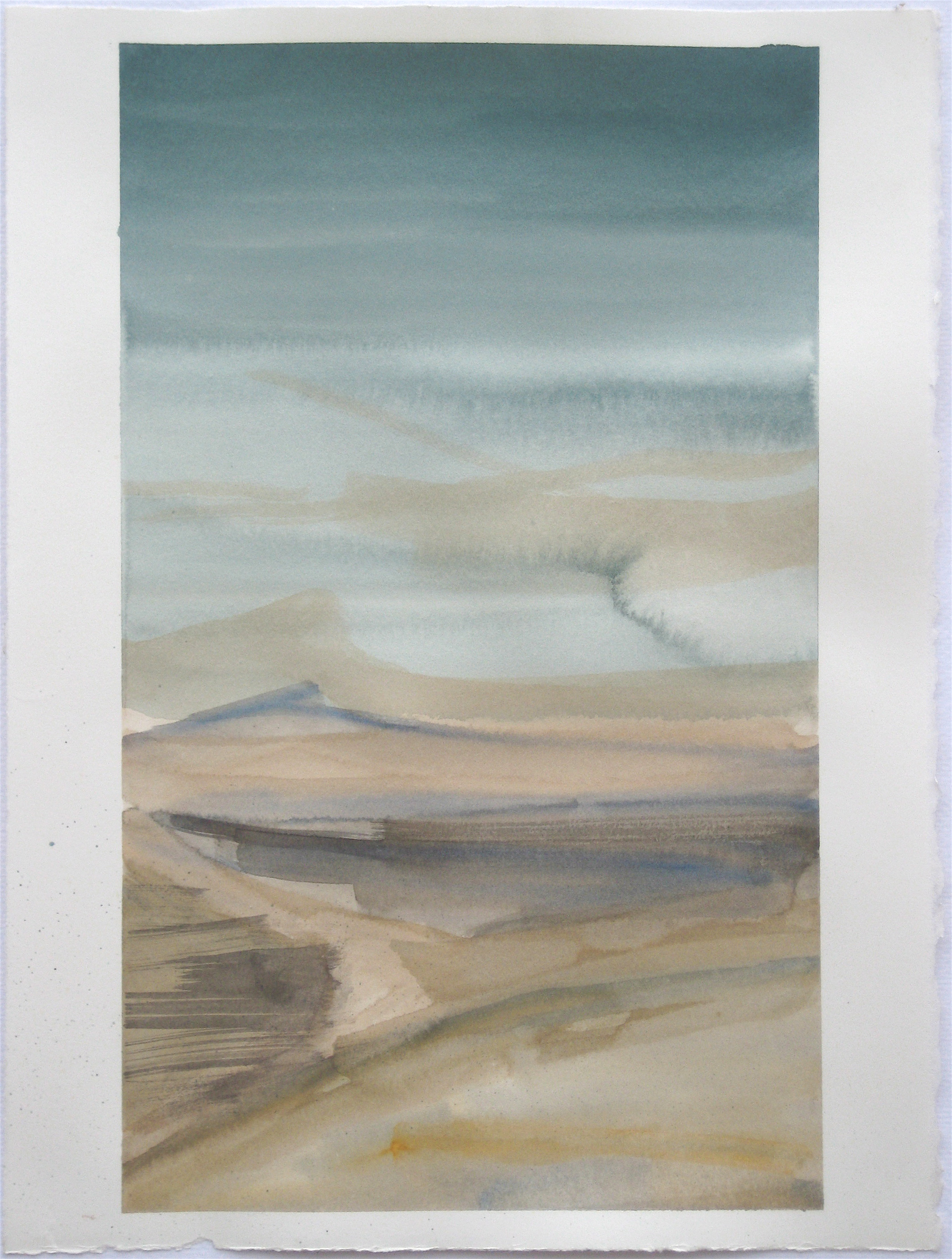 """Sky #3.4/2007, 2007, watercolor on paper paper: 15 1/4""""x11 1/4""""; image 14 1/2""""x8 1/2"""""""