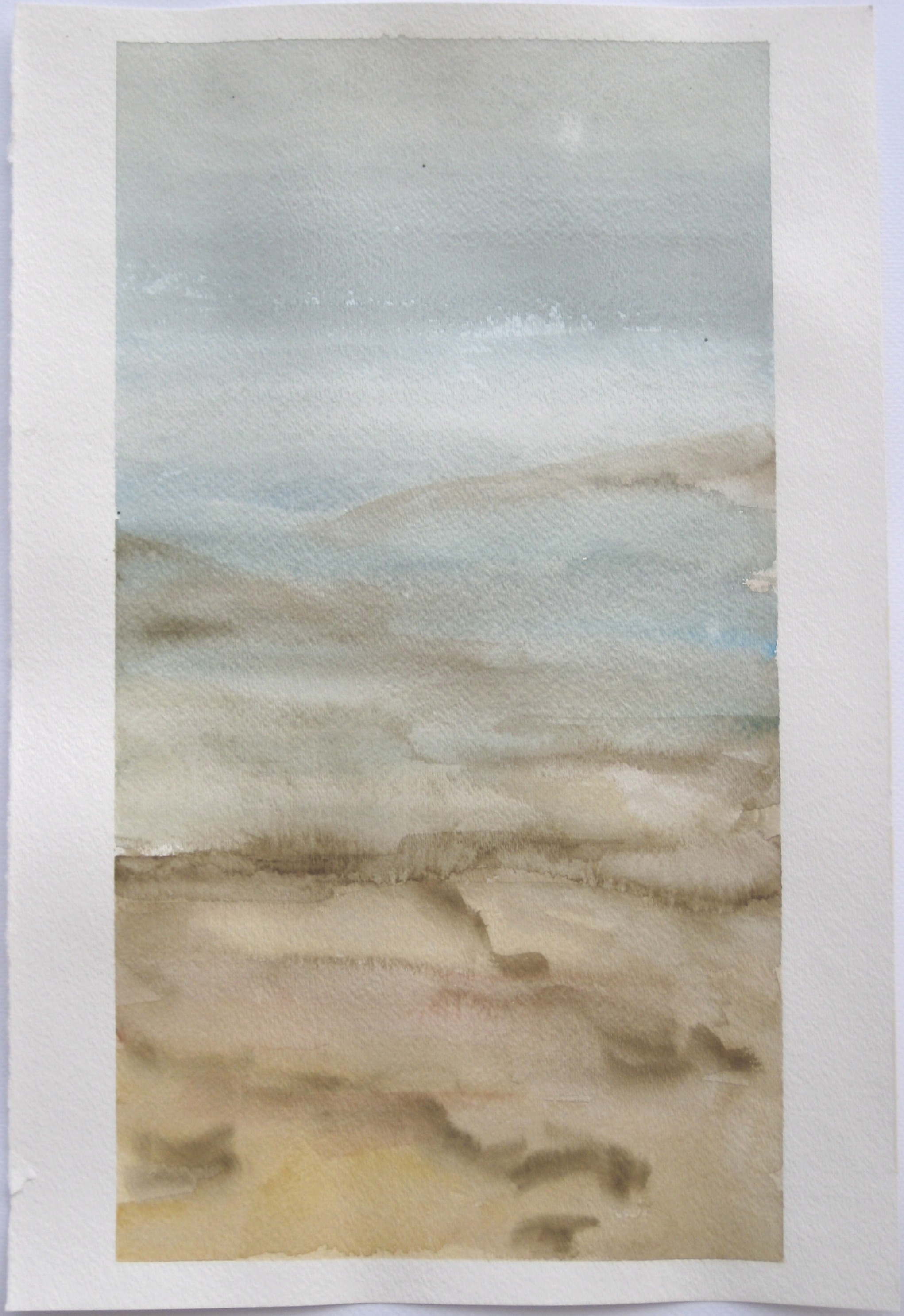 """Sky #6.4/2007, 2007, watercolor on paper paper: 18""""x12""""; image: 17""""x9 1/8"""""""