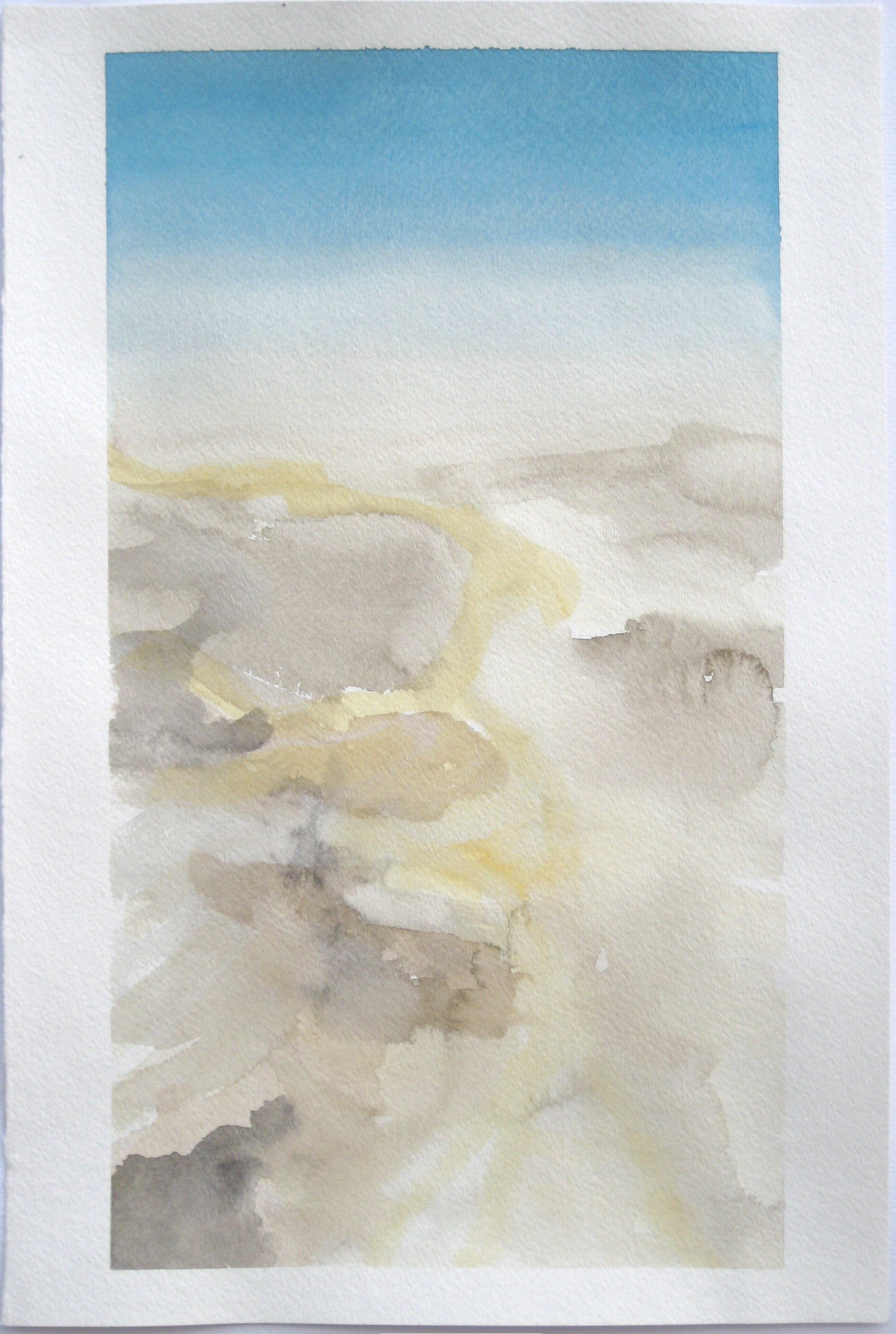 """Sky #7.4/2007, 2007, watercolor on paper paper: 18""""x12""""; image: 16 3/4""""x9 1/8"""""""