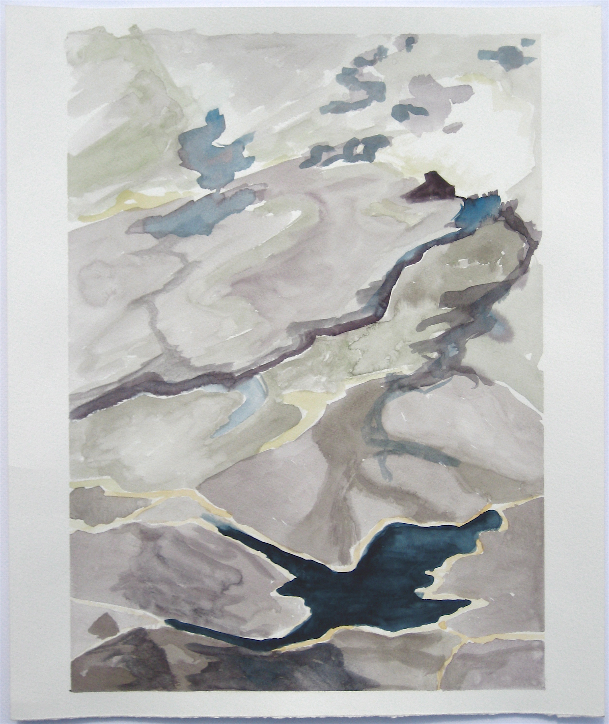 """Sky #1.5/2007, 2007, watercolor on paper paper: 18""""x15""""; image: 17""""x12"""""""