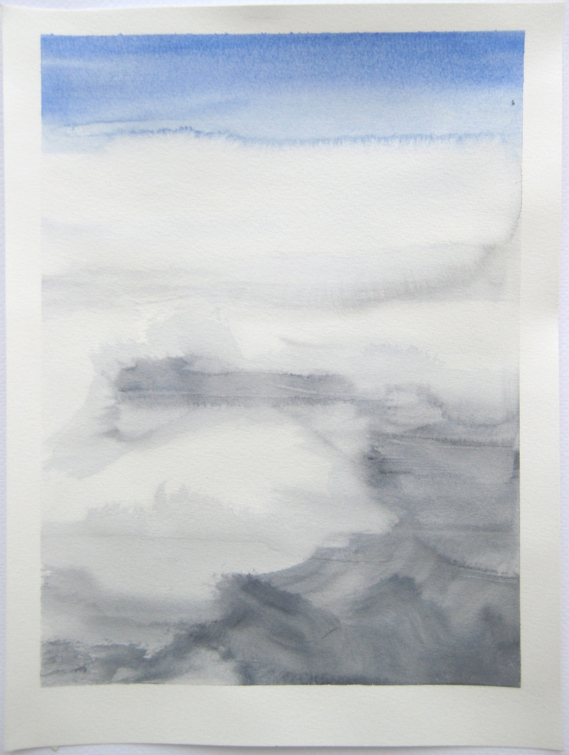 """Sky #1.3/2007, 2007, watercolor on paper paper: 12 6/8""""x9 1/2""""; image: 11 1/4""""x8 1/4"""""""