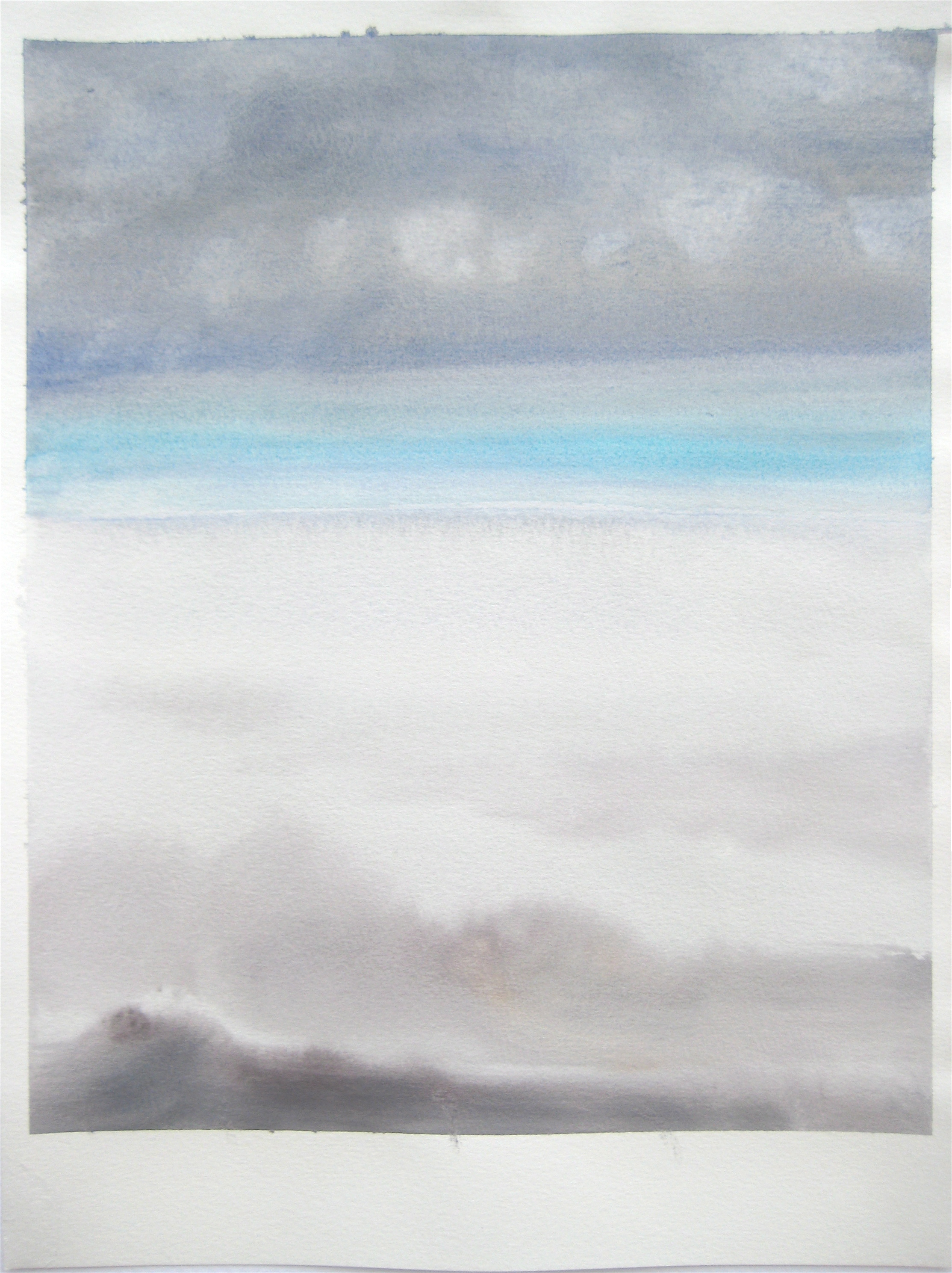 """Sky #2.3-2007, 2007, watercolor on paper paper: 12 6/8""""x9 1/2""""; image 11""""x9"""""""