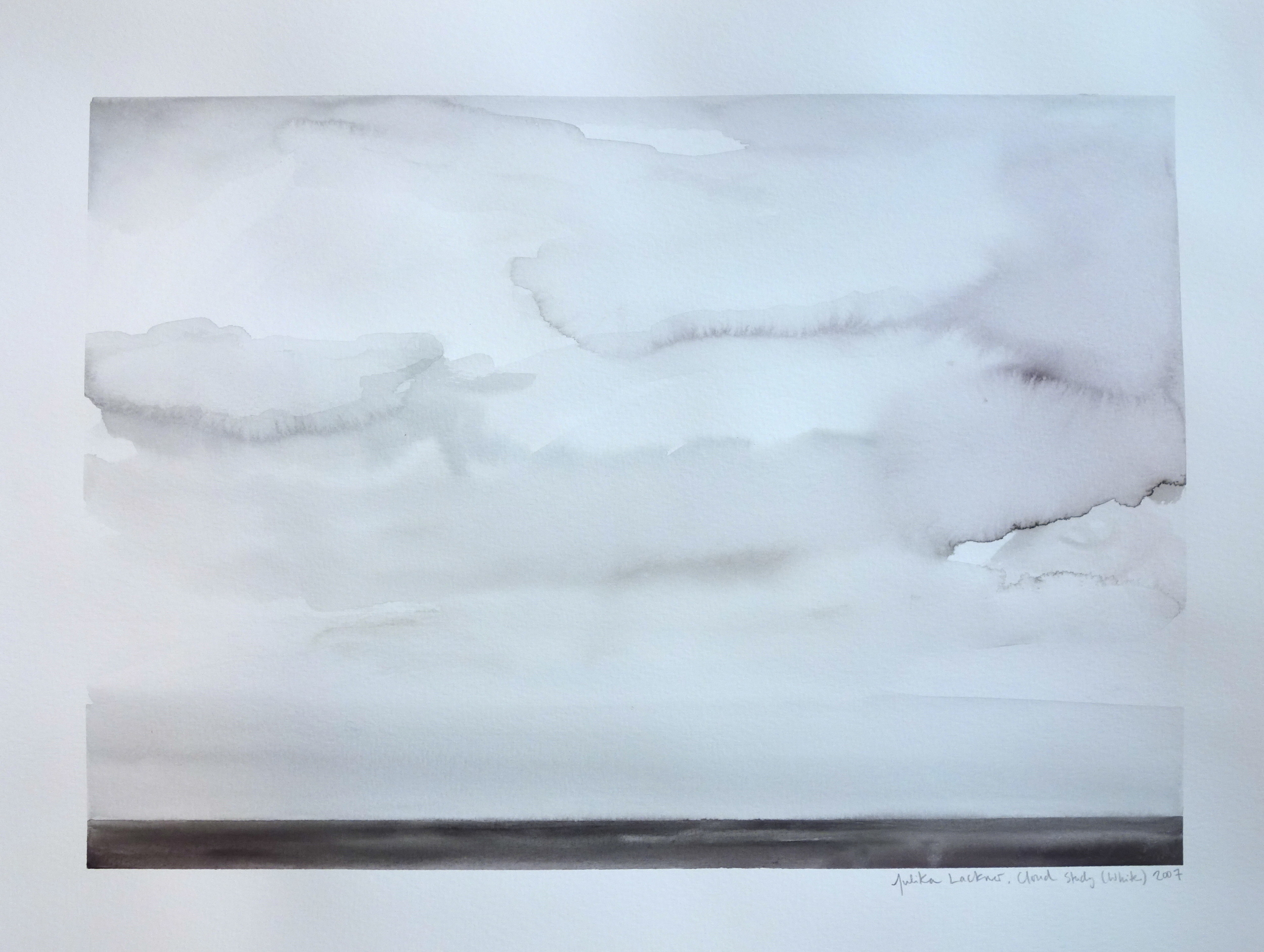 """Cloud Study - White, 2007, Watercolor on Paper, 15""""x20"""""""