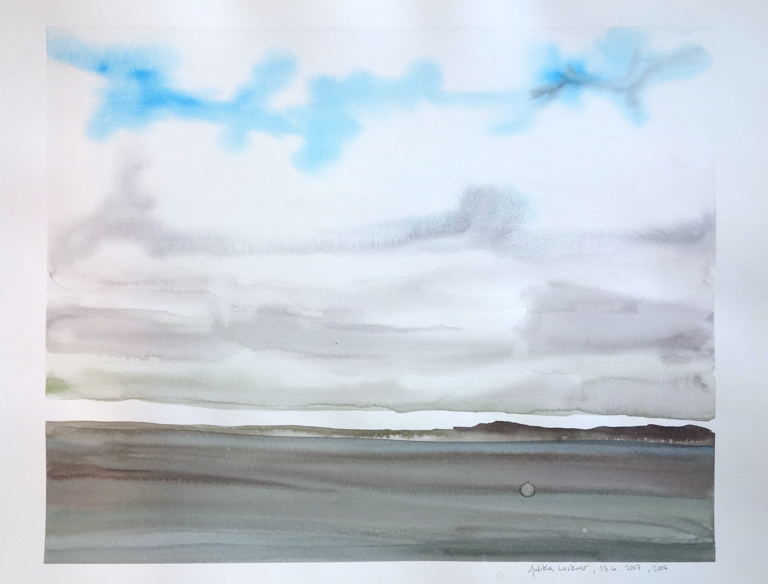 """13.6.2007, 2007,  Watercolor on Paper, 15""""x20"""""""