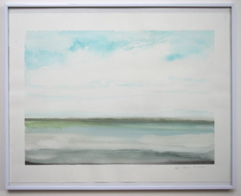 "Sea Study (#1.2.2008), 2008, watercolor on paper, 15""x20"""
