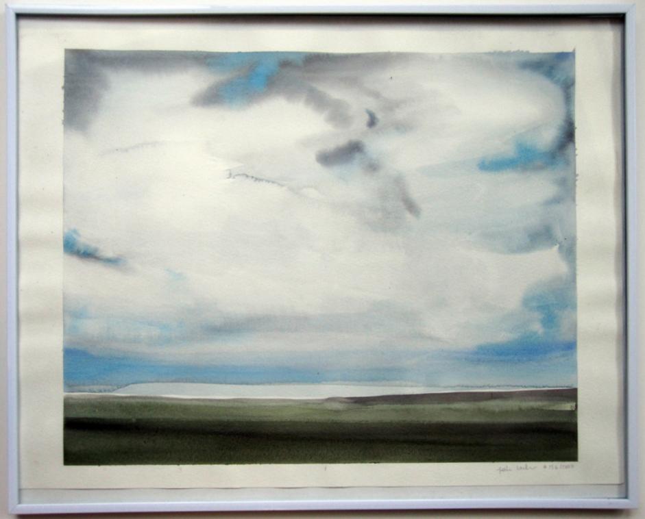 "Sea Study (#13.6.2007), 2007, watercolor on paper, 15""x20"" (Plum Goods)"