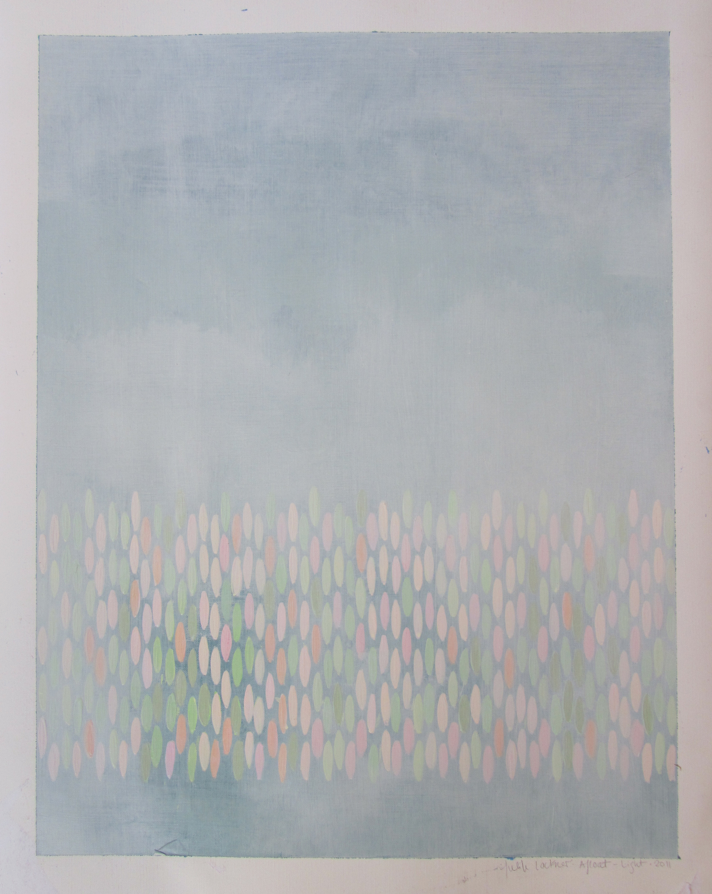 "Afloat on Paper (Light), 2011,  acrylic on canvas paper, 20""x16"" (≈51x41cm)"