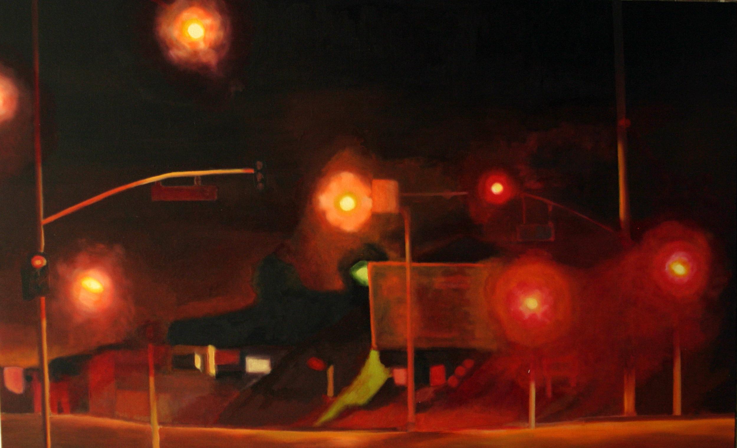 """Sunset, 2005, oil on canvas, 30""""x48"""""""