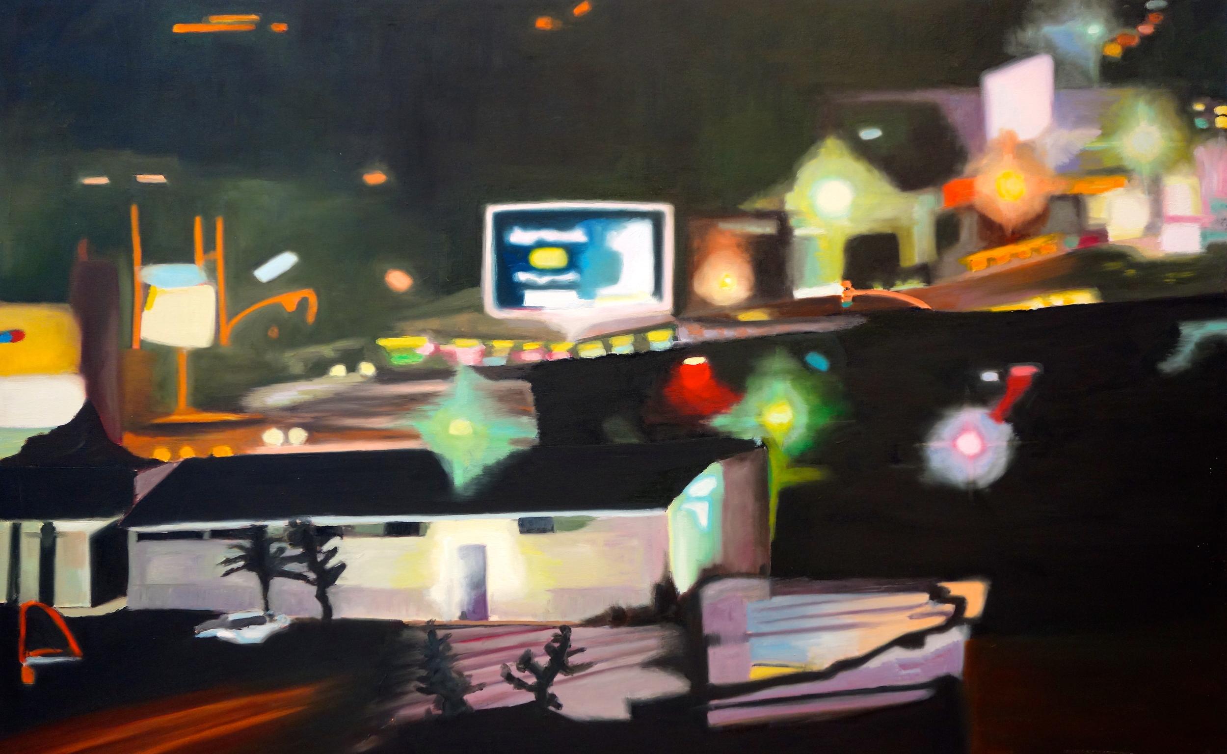 """Silver Sun, 2005, oil on canvas, 30""""x48"""""""