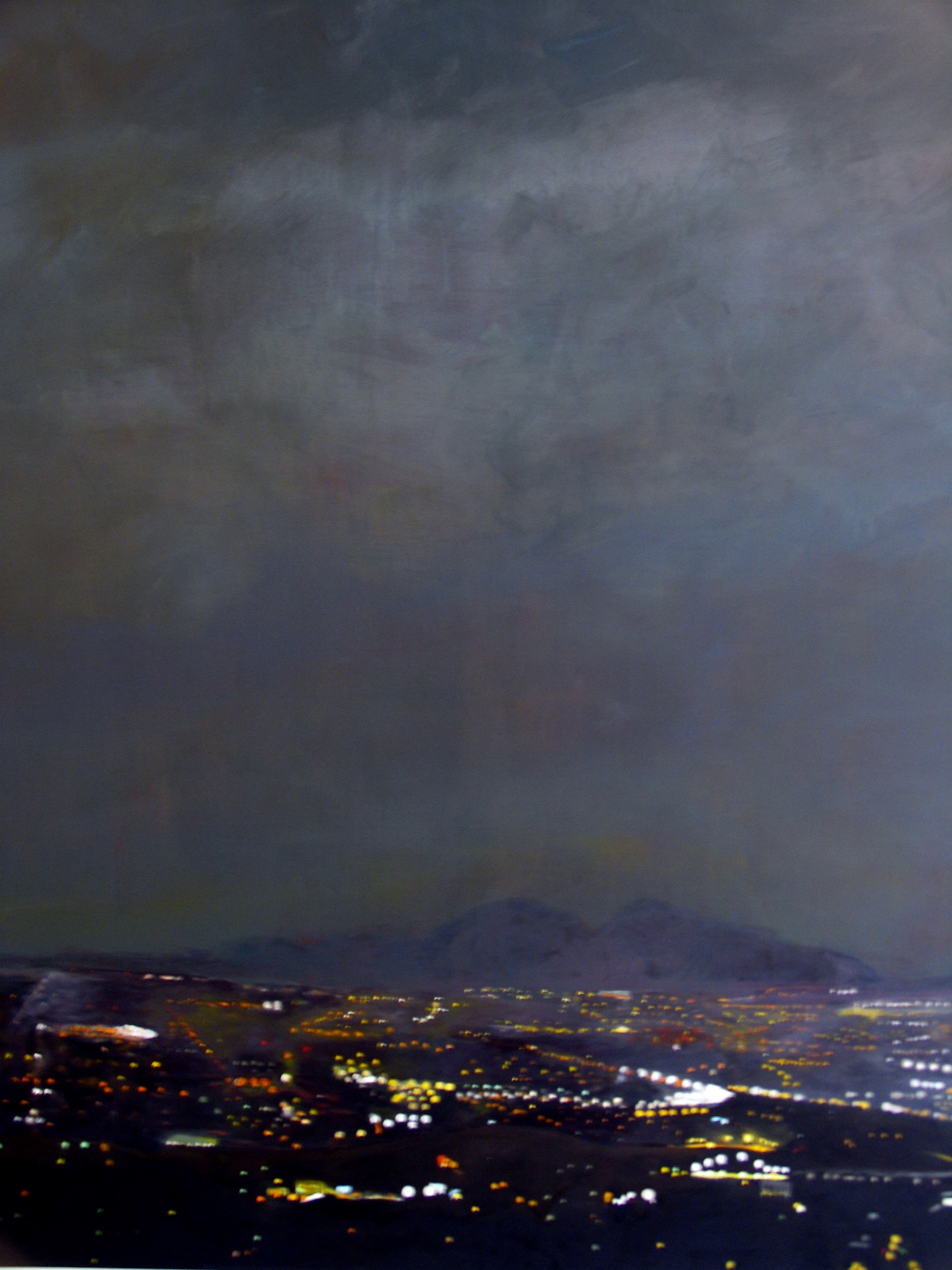 """Julika Lackner, """"To the Valley"""", 2005, Oil on Canvas, 72"""" x 60"""""""