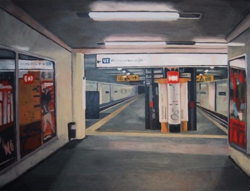 "Julika Lackner, ""Bernauer Strasse"", 2001, Oil on Canvas, 24"" x 31"""