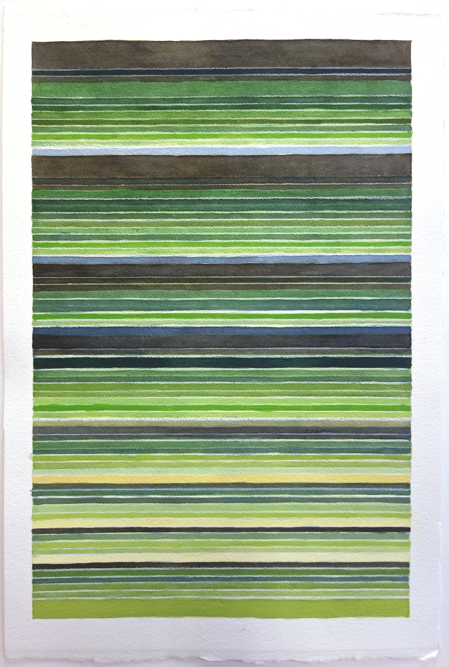 "Colorblind (Fairview Riverside), 2014, Watercolor and gouache on paper, 23""x15 1/4"""