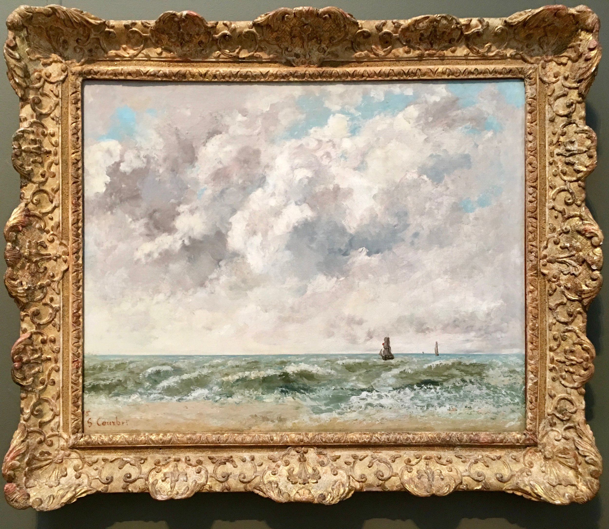 "Gustave Courbet, ""Marine, Trouville"", 1865"